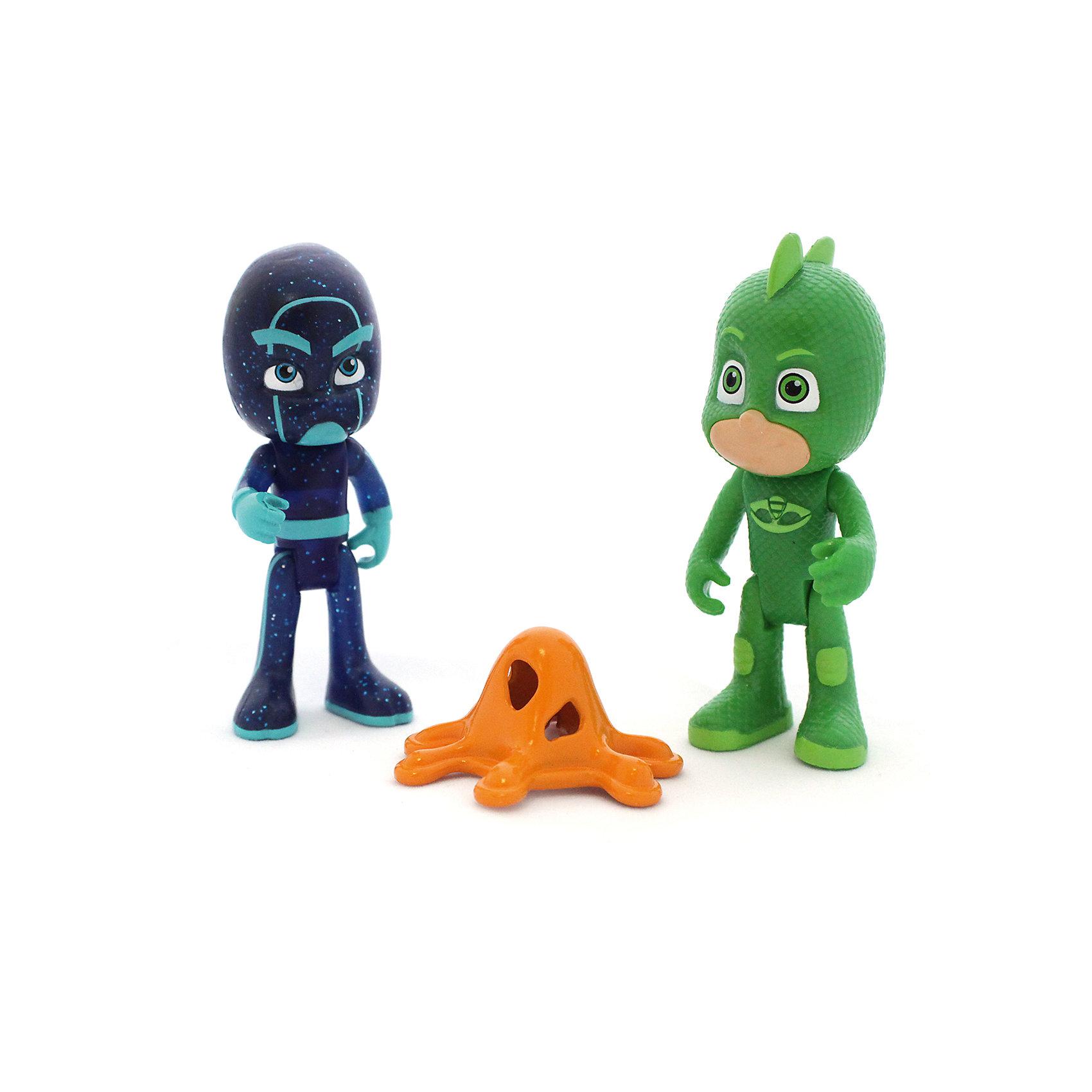 Игровой набор Гекко и Ниндзя, 2 фигурки, 8 см, Герои в маскахЛюбимые герои<br>Игровой набор Гекко и Ниндзя, 2 фигурки, 8 см, Герои в масках.<br><br>Характеристики:<br><br>• Для детей в возрасте: от 3 лет<br>• В наборе: 2 фигурки (Гекко и Ниндзя), аксессуар<br>• Материал: пластик<br>• Высота фигурок: 8 см.<br>• Упаковка: блистер на картоне<br>• Размер упаковки: 19х12х5 см.<br><br>Игровой набор от российской компании Росмэн создан по мотивам популярного мультипликационного фильма «Герои в масках», и включает 2 миниатюрные фигурки, выполненные по образу своих экранных прототипов: положительного героя Гекко и злодея по имени Ночной Ниндзя. Фигурки изготовлены из высококачественного, безопасного пластика, прекрасно детализированы и реалистично раскрашены. <br><br>У Гекко зелёный костюм, который делает его похожим на ящерицу. Лицо героя почти полностью закрыто маской, видны только глаза зеленого цвета. Ниндзя выполнен в синем костюме, полностью закрывающем его тело. У фигурок подвижные ручки и ножки.<br><br>Игровой набор Гекко и Ниндзя, 2 фигурки, 8 см, Герои в масках можно купить в нашем интернет-магазине.<br><br>Ширина мм: 190<br>Глубина мм: 120<br>Высота мм: 50<br>Вес г: 100<br>Возраст от месяцев: 36<br>Возраст до месяцев: 2147483647<br>Пол: Унисекс<br>Возраст: Детский<br>SKU: 6679191