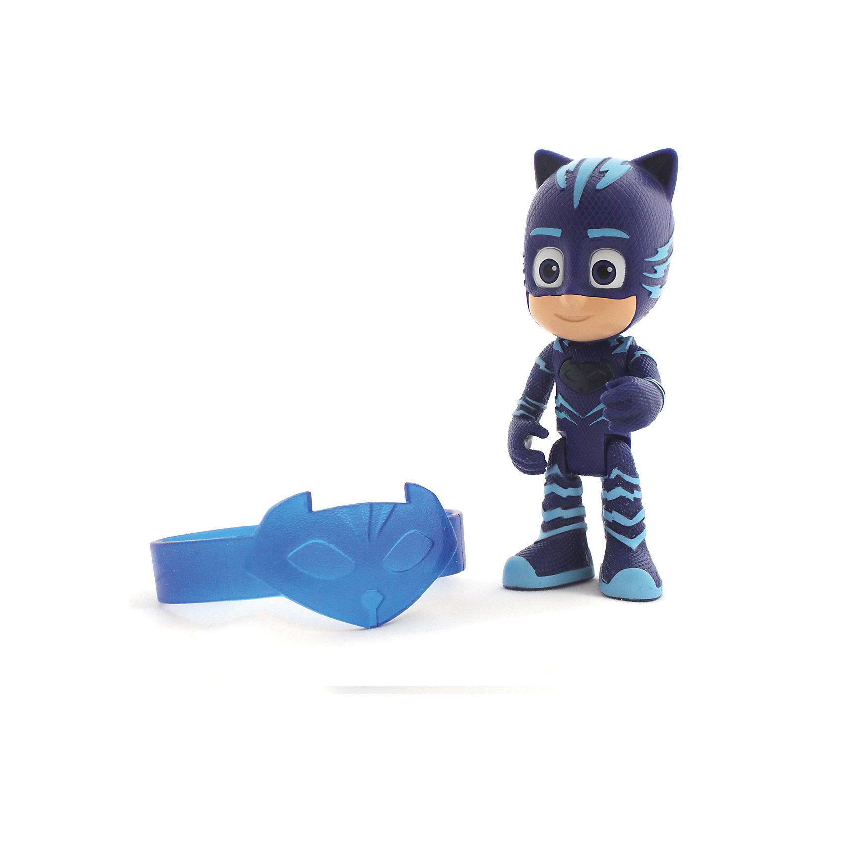 Игровой набор Кэтбой: фигурка 8 см со светом + браслет, Герои в маскахЛюбимые герои<br>Игровой набор Кэтбой: фигурка 8 см со светом + браслет, Герои в масках.<br><br>Характеристики:<br><br>• Для детей в возрасте: от 3 лет<br>• В наборе: фигурка Кэтбоя со световым эффектом, силиконовый браслет для ребенка<br>• Материал фигурки: пластик<br>• Высота фигурки: 8 см.<br>• Батарейки: 3 типа AG3 (LR 41) входят в комплект<br>• Упаковка: блистер на картоне<br>• Размер упаковки: 19 х 10,5 х 4,5 см.<br><br>Игровой набор представлен фигуркой, выполненной в виде персонажа мультфильма «Герои в масках» - Кэтбоя и силиконовым браслетом с изображением атрибута героя, который будет прекрасно смотреться на руке малыша. Фигурка Кэтбоя прекрасно детализирована и реалистично раскрашена. <br><br>У Кэтбоя синий костюм с кошачьими ушками и хвостом. Лицо героя почти полностью закрыто маской, видны только глаза синего цвета. У фигурки подвижные ручки и ножки. При нажатии на голову героя загорается амулет на его груди.<br><br>Игровой набор Кэтбой: фигурка 8 см со светом + браслет, Герои в масках можно купить в нашем интернет-магазине.<br><br>Ширина мм: 190<br>Глубина мм: 105<br>Высота мм: 45<br>Вес г: 70<br>Возраст от месяцев: 36<br>Возраст до месяцев: 2147483647<br>Пол: Унисекс<br>Возраст: Детский<br>SKU: 6679198