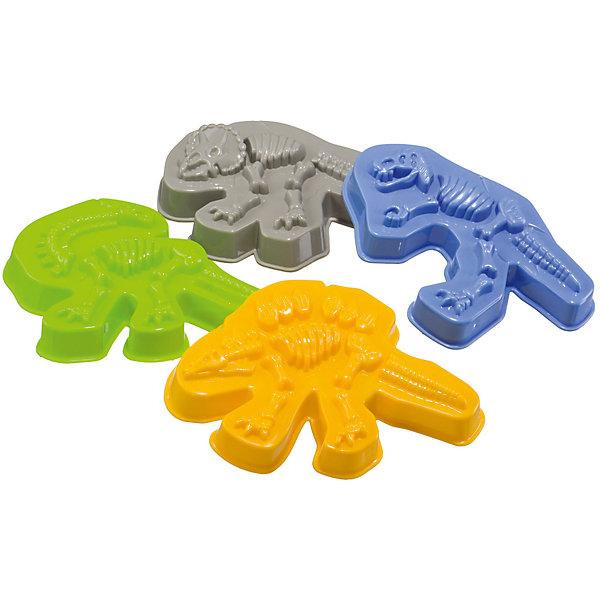Формочки для песка Dinosaurs, Happy BabyИграем в песочнице<br>Характеристики:<br><br>• состав набора: 4 формочки для песка;<br>• материал: пластик;<br>• размер упаковки: 11х11х14,5 см;<br>• вес: 72 г.<br><br>Игровой набор для песочницы включает в себя 4 формочки-динозаврика, с которыми ваш малыш сможет создать объемные фигурки тиранозавра, трицерапторса, стегозавра и брахиозавра. Формочки изготовлены из гипоаллергенного пластика. <br><br>Формочки для песка Dinosaurs, Happy Baby можно купить в нашем интернет-магазине.<br><br>Ширина мм: 110<br>Глубина мм: 110<br>Высота мм: 145<br>Вес г: 72<br>Возраст от месяцев: 36<br>Возраст до месяцев: 2147483647<br>Пол: Унисекс<br>Возраст: Детский<br>SKU: 6679321