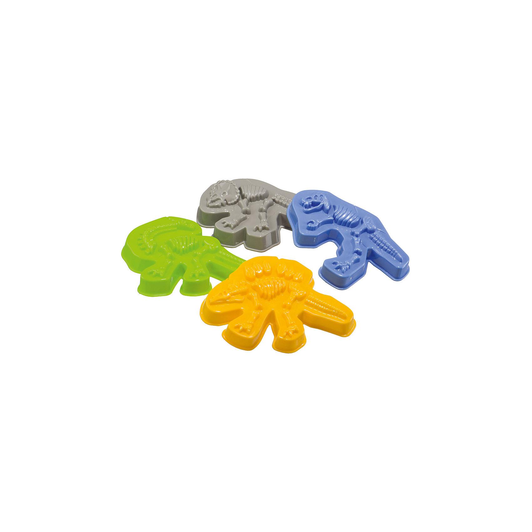 Формочки для песка Dinosaurs, Happy BabyИгрушки для малышей<br>Рекомендуется детям старше 3 лет.<br>В наборе 4 формочки.<br>Срок службы: 5 лет.<br>Особых условий хранения и транспортировки не требует.<br>РАЗВИВАЕТ:<br>Воображение.<br>Мелкую моторику.<br>Интеллект.<br>УХОД<br>Перед использованием обработать игрушки чистой влажной тканью.<br><br>ОПИСАНИЕ<br>Весёлые формочки в виде динозавров увлекут ребёнка в мир приключений, превращая песочницу в место раскопок. В позитивной игровой форме ребёнок сможет узнать названия видов динозавров и увидеть, как выглядят их скелеты. В наборе присутствуют формочки в виде скелетов тиранозавра, трицерапторса, стегозавра и брахиозавра.<br><br>Ширина мм: 110<br>Глубина мм: 110<br>Высота мм: 145<br>Вес г: 72<br>Возраст от месяцев: 36<br>Возраст до месяцев: 2147483647<br>Пол: Унисекс<br>Возраст: Детский<br>SKU: 6679321