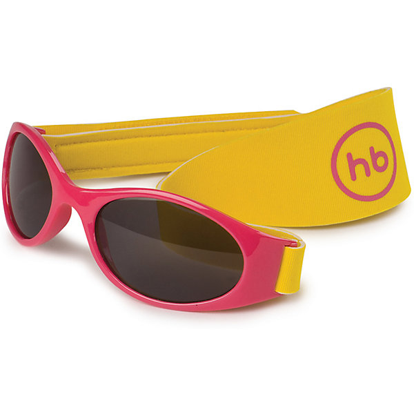Очки солнцезащитные с ремешком, Happy Baby, красный