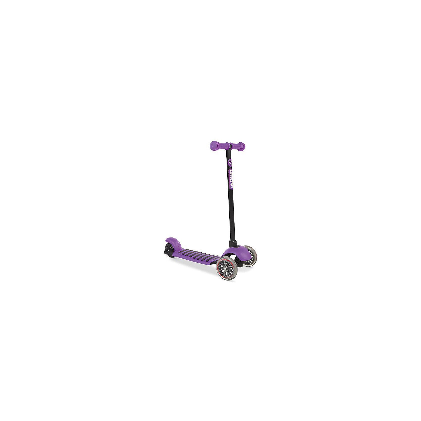 Трехколесный самокат Y-volution Glider Deluxe, фиолетовыйСамокаты<br>Характеристики товара:<br><br>• возраст: от 3 лет;<br>• максимальная нагрузка: 20 кг;<br>• материал: металл, пластик;<br>• материал колес: полиуретан;<br>• высота рулевой стойки: 65,6 см;<br>• ножной тормоз;<br>• вес самоката: 2,2 кг;<br>• размер упаковки: 60х41х65 см;<br>• вес упаковки: 2,2 кг;<br>• страна производитель: Китай.<br><br>Трехколесный самокат Glider Deluxe Yvolution фиолетовый разнообразит летнюю прогулку на свежем воздухе. Катание на самокате учит ребенка координировать движения, держать равновесие. Самокат оснащен удобным и простым в управлении рулевым механизмом, понятным даже начинающим райдерам. Для поворота рулевая стойка наклоняется в нужную сторону, что позволяет легко держать равновесие даже при повороте.<br><br>Колеса изготовлены из долговечного износостойкого полиуретана, который обеспечивает плавную и ровную езду. 2 передних колеса придают самокату хорошей устойчивости. <br><br>Ручки руля покрыты прорезиненными грипсами, предотвращающими соскальзывание ладоней во время катания. Дека из прочного пластика имеет рифленую поверхность для безопасной езды и хорошей устойчивости на ее поверхности. Ножной тормоз гарантирует быстрое торможение перед препятствием. <br><br>Трехколесный самокат Glider Deluxe Yvolution фиолетовый можно приобрести в нашем интернет-магазине.<br><br>Ширина мм: 600<br>Глубина мм: 410<br>Высота мм: 650<br>Вес г: 2200<br>Возраст от месяцев: 36<br>Возраст до месяцев: 2147483647<br>Пол: Женский<br>Возраст: Детский<br>SKU: 6679952