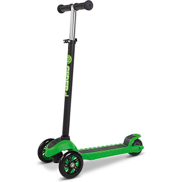 Трехколесный самокат Y-volution Glider XL, зеленыйСамокаты<br>Характеристики товара:<br><br>• возраст: от 5 лет;<br>• максимальная нагрузка: 50 кг;<br>• материал: металл, пластик;<br>• материал колес: полиуретан;<br>• регулируемая высота руля;<br>• ножной тормоз;<br>• вес самоката: 2,6 кг;<br>• размер упаковки: 60х41х65 см;<br>• вес упаковки: 2,6 кг;<br>• страна производитель: Китай.<br><br>Трехколесный самокат Glider XL Yvolution зеленый научит ребенка координировать движения и держать равновесие. Самокат оснащен удобным и простым в управлении рулевым механизмом, понятным даже начинающим райдерам. Для поворота рулевая стойка наклоняется в нужную сторону, что позволяет легко держать равновесие даже при повороте.<br><br>Колеса изготовлены из долговечного износостойкого полиуретана, который обеспечивает плавную и ровную езду. 2 передних колеса придают самокату хорошей устойчивости. Дека имеет рифленую поверхность для безопасной езды и хорошей устойчивости на ее поверхности. Ножной тормоз гарантирует быстрое торможение перед препятствием.<br><br>Руль регулируется по высоте, что позволит адаптировать его под растущего ребенка. Ручки руля покрыты прорезиненными накладками, предотвращающими соскальзывание ладоней во время катания. Рулевую стойку можно убрать для более удобного хранения дома или перевозки.<br><br>Трехколесный самокат Glider XL Yvolution зеленый можно приобрести в нашем интернет-магазине.<br>Ширина мм: 600; Глубина мм: 410; Высота мм: 650; Вес г: 2600; Возраст от месяцев: 60; Возраст до месяцев: 2147483647; Пол: Унисекс; Возраст: Детский; SKU: 6679953;