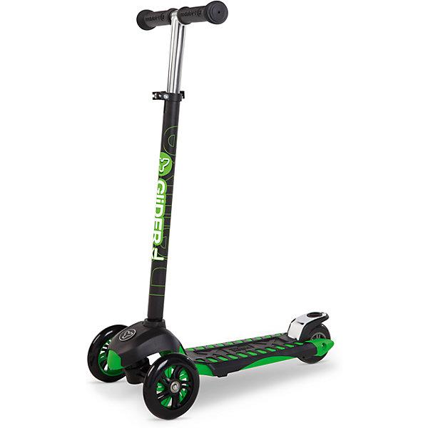Трехколесный самокат Y-volution Glider XL Deluxe, зеленыйСамокаты<br>Характеристики товара:<br><br>• возраст: от 5 лет;<br>• максимальная нагрузка: 50 кг;<br>• материал: металл, пластик;<br>• материал колес: полиуретан;<br>• высота руля: 77-88 см;<br>• ножной тормоз;<br>• вес самоката: 2,8 кг;<br>• размер упаковки: 60х41х65 см;<br>• вес упаковки: 2,8 кг;<br>• страна производитель: Китай.<br><br>Трехколесный самокат Glider XL Deluxe Yvolution зеленый сделает активной и интересной летнюю прогулку. Он подойдет для катания по городским улочкам и паркам. Катание на самокате способствует физическому развитию ребенка, учит его координировать свои движения и держать равновесие. <br><br>Самокат оснащен удобным и простым в управлении рулевым механизмом, понятным даже начинающим райдерам. Для поворота рулевая стойка наклоняется в нужную сторону, что позволяет легко держать равновесие даже при повороте. Руль регулируется по высоте под растущего ребенка. Рулевую стойку можно вынуть из основания для хранения дома или транспортировки.<br><br>Колеса изготовлены из долговечного износостойкого полиуретана, который обеспечивает плавную и ровную езду. 2 передних колеса придают самокату хорошей устойчивости. Рифленая поверхность деки обеспечивает хорошее сцепление с поверхностью для безопасной езды. Ножной тормоз гарантирует быстрое торможение перед препятствием. Рама изготовлена из прочного материала, выдерживающего большие нагрузки.<br><br>Трехколесный самокат Glider XL Deluxe Yvolution зеленый можно приобрести в нашем интернет-магазине.<br>Ширина мм: 600; Глубина мм: 410; Высота мм: 650; Вес г: 2800; Возраст от месяцев: 60; Возраст до месяцев: 2147483647; Пол: Унисекс; Возраст: Детский; SKU: 6679956;