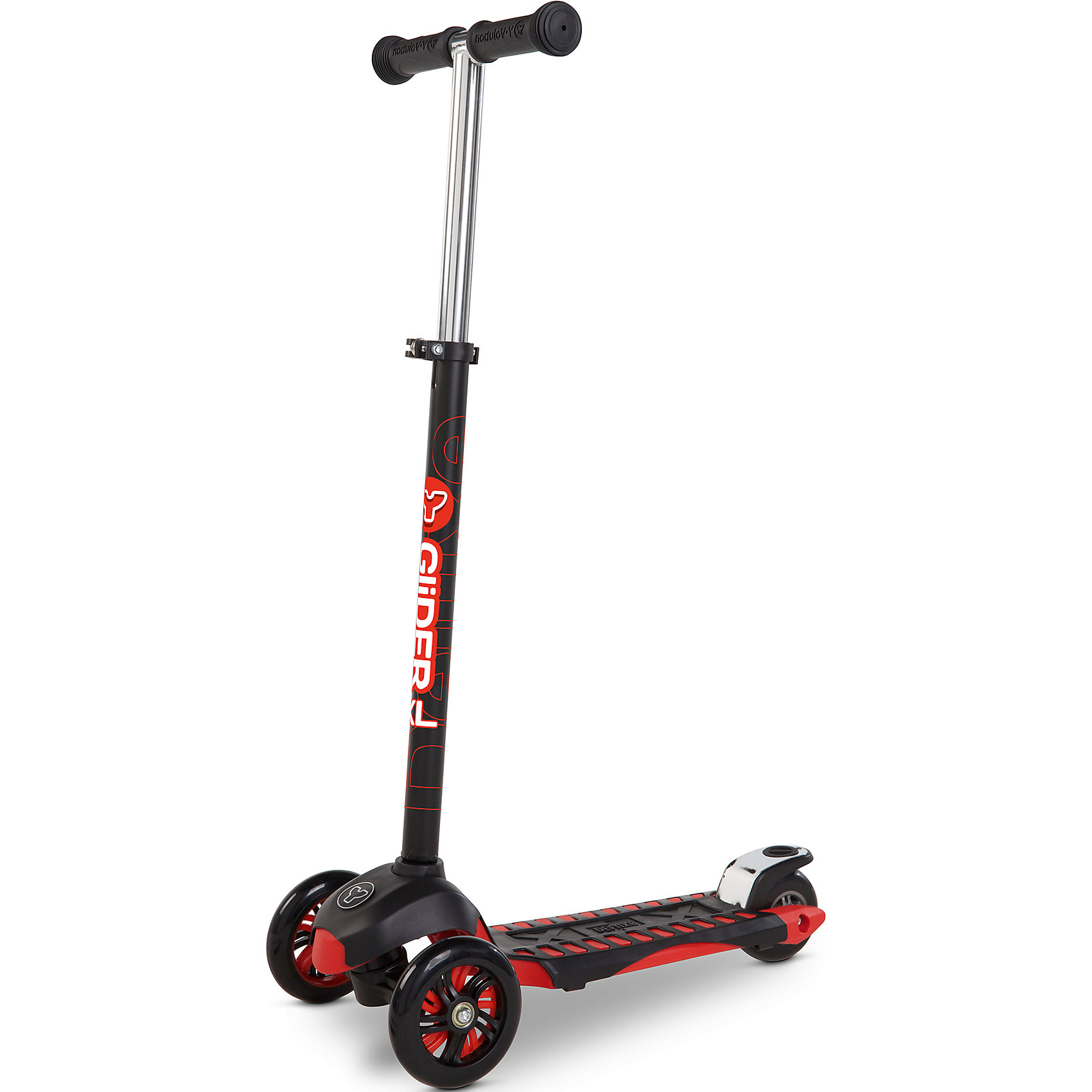 Трехколесный самокат Y-volution Glider XL Deluxe, красныйСамокаты<br>Характеристики товара:<br><br>• возраст: от 5 лет;<br>• максимальная нагрузка: 50 кг;<br>• материал: металл, пластик;<br>• материал колес: полиуретан;<br>• высота руля: 77-88 см;<br>• ножной тормоз;<br>• вес самоката: 2,8 кг;<br>• размер упаковки: 60х41х65 см;<br>• вес упаковки: 2,8 кг;<br>• страна производитель: Китай.<br><br>Трехколесный самокат Glider XL Deluxe Yvolution красный сделает активной и интересной летнюю прогулку. Он подойдет для катания по городским улочкам и паркам. Катание на самокате способствует физическому развитию ребенка, учит его координировать свои движения и держать равновесие. <br><br>Самокат оснащен удобным и простым в управлении рулевым механизмом, понятным даже начинающим райдерам. Для поворота рулевая стойка наклоняется в нужную сторону, что позволяет легко держать равновесие даже при повороте. Руль регулируется по высоте под растущего ребенка. Рулевую стойку можно вынуть из основания для хранения дома или транспортировки.<br><br>Колеса изготовлены из долговечного износостойкого полиуретана, который обеспечивает плавную и ровную езду. 2 передних колеса придают самокату хорошей устойчивости. Рифленая поверхность деки обеспечивает хорошее сцепление с поверхностью для безопасной езды. Ножной тормоз гарантирует быстрое торможение перед препятствием. Рама изготовлена из прочного материала, выдерживающего большие нагрузки.<br><br>Трехколесный самокат Glider XL Deluxe Yvolution красный можно приобрести в нашем интернет-магазине.<br><br>Ширина мм: 600<br>Глубина мм: 410<br>Высота мм: 650<br>Вес г: 2800<br>Возраст от месяцев: 60<br>Возраст до месяцев: 2147483647<br>Пол: Унисекс<br>Возраст: Детский<br>SKU: 6679957