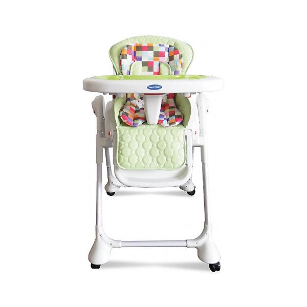 Стульчик для кормления Luxor Multicolor, Sweet Baby, MelaСтульчики для кормления<br>Характеристика товара:<br><br>• цвет: Mela (зеленый)<br>• используется в качестве стульчика для кормления или шезлонга для сна<br>• наклон спинки регулируется, устанавливается в горизонтальное положение<br>• регулируемая по высоте спинка (5 уровней)<br>• угол наклона спинки регулируется (3 положения)<br>• регулируемая длина подножки (3 уровня)<br>• чехол из экокожи<br>• яркий вкладыш из мягкой гипоаллергенной ткани (снимается)<br>• сетчато-текстильная корзина для аксессуаров<br>• 5-точечные ремни безопасности с надежным замком и мягкими накладками<br>• 3 позиции глубины и высоты подноса<br>• съемная верхняя накладка на поднос и 2 углубления для посуды<br>• 4 колеса со стоперами<br>• компактные размеры и устойчивость в сложенном виде<br>• возраст: от 0 месяцев<br>• материал рамы: металл, пластик<br>• страна производства: Китай<br>• вес: 15 кг<br>• размер упаковки: 91х30х65 см<br><br>Стульчик для кормления Luxor Multicolor Sweet Baby с уникальной функцией –<br>ручным механизмом качания!<br><br>Компактный стульчик для кормления теперь может быть и кроваткой – Вы сможете заняться любым делом, параллельно убаюкивая своего малыша.<br><br>Стульчик легко перемещается, а это значит, что Вы сможете убаюкать крошку там, где Вам удобно.<br><br>Стульчик для кормления Luxor Multicolor, Sweet Baby,  Mela можно купить в нашем интернет-магазине.<br>Ширина мм: 850; Глубина мм: 630; Высота мм: 1080; Вес г: 9500; Возраст от месяцев: 0; Возраст до месяцев: 36; Пол: Унисекс; Возраст: Детский; SKU: 6680140;