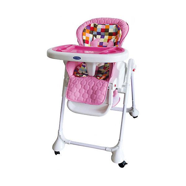 Стульчик для кормления Luxor Multicolor, Sweet Baby, RosaСтульчики для кормления<br>Характеристика товара:<br><br>• цвет: Rosa<br>• используется в качестве стульчика для кормления или шезлонга для сна<br>• наклон спинки регулируется, устанавливается в горизонтальное положение<br>• регулируемая по высоте спинка (5 уровней)<br>• угол наклона спинки регулируется (3 положения)<br>• регулируемая длина подножки (3 уровня)<br>• чехол из экокожи<br>• яркий вкладыш из мягкой гипоаллергенной ткани (снимается)<br>• сетчато-текстильная корзина для аксессуаров<br>• 5-точечные ремни безопасности с надежным замком и мягкими накладками<br>• 3 позиции глубины и высоты подноса<br>• съемная верхняя накладка на поднос и 2 углубления для посуды<br>• 4 колеса со стоперами<br>• компактные размеры и устойчивость в сложенном виде<br>• возраст: от 0 месяцев<br>• материал рамы: металл, пластик<br>• страна производства: Китай<br>• вес: 15 кг<br>• размер упаковки: 91х30х65 см<br><br>Стульчик для кормления Luxor Multicolor Sweet Baby с уникальной функцией –<br>ручным механизмом качания!<br><br>Компактный стульчик для кормления теперь может быть и кроваткой – Вы сможете заняться любым делом, параллельно убаюкивая своего малыша.<br><br>Стульчик легко перемещается, а это значит, что Вы сможете убаюкать крошку там, где Вам удобно.<br><br>Стульчик для кормления Luxor Multicolor, Sweet Baby, Rosa можно купить в нашем интернет-магазине.<br><br>Ширина мм: 850<br>Глубина мм: 630<br>Высота мм: 1080<br>Вес г: 9500<br>Возраст от месяцев: 0<br>Возраст до месяцев: 36<br>Пол: Унисекс<br>Возраст: Детский<br>SKU: 6680141
