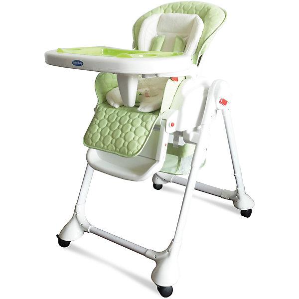 Стульчик для кормления Luxor Classic, Sweet Baby, MelaСтульчики для кормления<br>Характеристика товара:<br><br>• цвет: Mela (зеленый)<br>• используется в качестве стульчика для кормления или шезлонга для сна<br>• наклон спинки регулируется, устанавливается в горизонтальное положение<br>• регулируемая по высоте спинка (5 уровней)<br>• угол наклона спинки регулируется (3 положения)<br>• регулируемая длина подножки (3 уровня)<br>• чехол из экокожи<br>• вкладыш из мягкой гипоаллергенной ткани, который легко снимается<br>• сетчато-текстильная корзина для аксессуаров<br>• 5-точечные ремни безопасности с надежным замком и мягкими накладками<br>• 3 позиции глубины и высоты подноса<br>• съемная верхняя накладка на поднос и 2 углубления для посуды<br>• 4 колеса со стоперами<br>• компактные размеры и устойчивость в сложенном виде<br>• возраст: от 0 месяцев<br>• материал рамы: металл, пластик<br>• страна производства: Китай<br>• вес: 15 кг<br>• размер упаковки: 91х30х65 см<br><br>Стульчик для кормления Sweet Baby Luxor Classic с уникальной функцией –<br>ручным механизмом качания!<br><br>Компактный стульчик для кормления теперь может быть и кроваткой – Вы сможете заняться любым делом, параллельно убаюкивая своего малыша.<br><br>Стульчик легко перемещается, а это значит, что Вы сможете убаюкать крошку там, где Вам удобно.<br><br>Стульчик для кормления Luxor Classic, Sweet Baby, Mela можно купить в нашем интернет-магазине.<br><br>Ширина мм: 850<br>Глубина мм: 630<br>Высота мм: 1080<br>Вес г: 9500<br>Возраст от месяцев: 0<br>Возраст до месяцев: 36<br>Пол: Унисекс<br>Возраст: Детский<br>SKU: 6680143