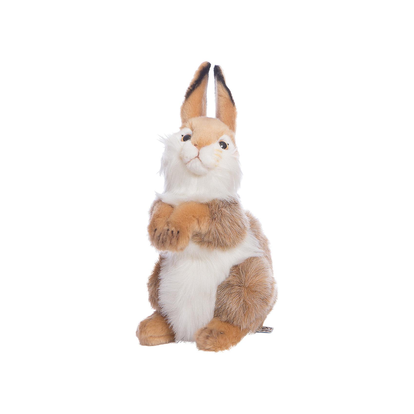 Мягкая игрушка Hansa Кролик, 30 смЗайцы и кролики<br>Характеристики товара:<br><br>• возраст: от 3 лет;<br>• материал: искусственный мех;<br>• высота игрушки: 30 см;<br>• размер упаковки: 30х19х18 см;<br>• вес упаковки: 190 гр.;<br>• страна производитель: Филиппины.<br><br>Мягкая игрушка Кролик Hansa 30 см — очаровательный зверек с маленькими глазками-пуговками, пушистыми лапками и длинными ушками, который станет для ребенка любимым домашним питомцем. Игрушку можно брать с собой на прогулку, в детский садик, в гости и устраивать вместе с друзьями веселые игры. <br><br>Внутри проходит титановый каркас, который позволяет менять положение лап, туловища, поворачивать голову. Игрушка сделана из качественных безопасных материалов.<br><br>Мягкую игрушку Кролик Hansa 30 см можно приобрести в нашем интернет-магазине.<br><br>Ширина мм: 190<br>Глубина мм: 180<br>Высота мм: 300<br>Вес г: 190<br>Возраст от месяцев: 36<br>Возраст до месяцев: 2147483647<br>Пол: Унисекс<br>Возраст: Детский<br>SKU: 6680720