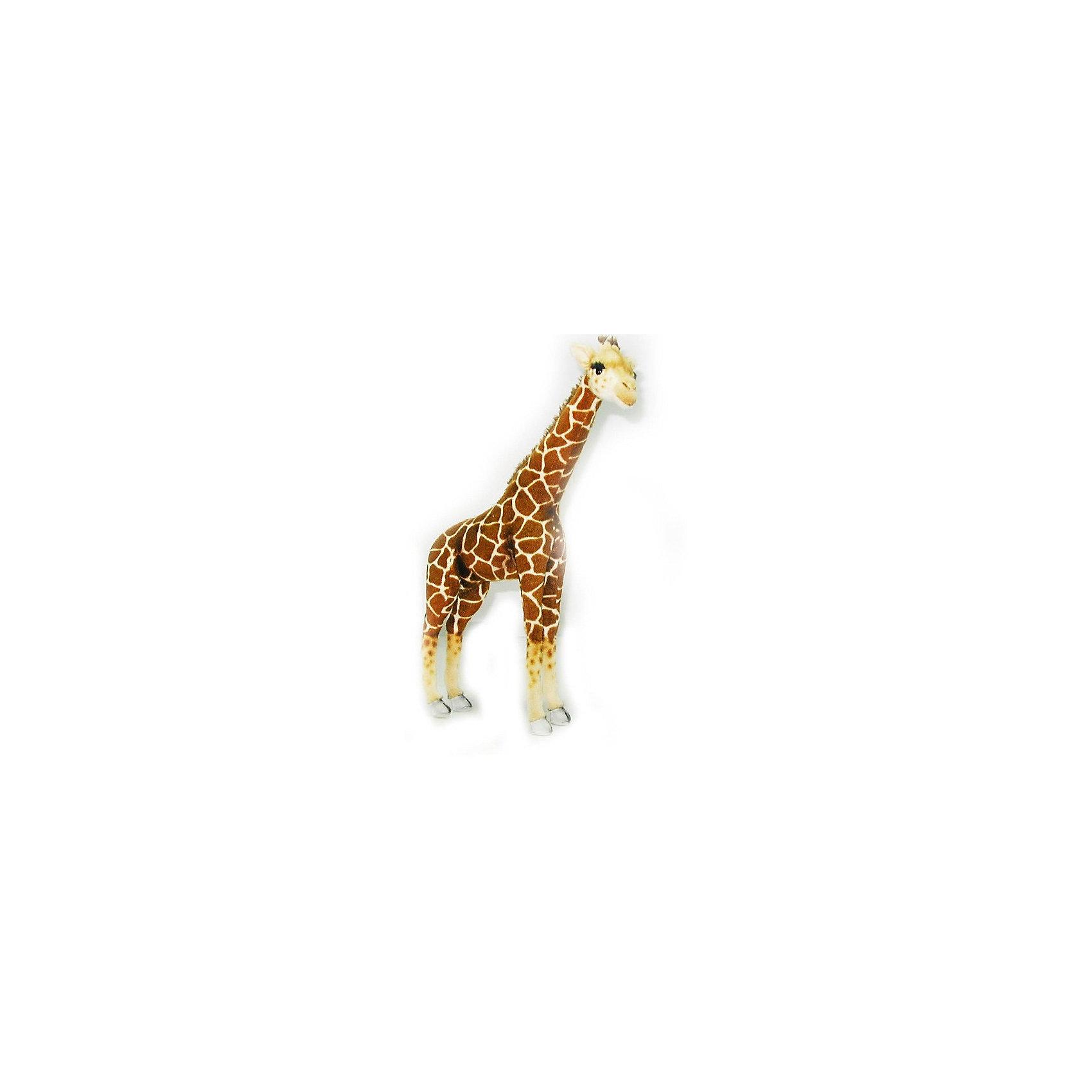 Мягкая игрушка Жираф, 64 смМягкие игрушки животные<br>Характеристики товара:<br><br>• возраст: от 3 лет;<br>• материал: искусственный мех;<br>• высота игрушки: 64 см;<br>• размер упаковки: 64х43х14 см;<br>• вес упаковки: 540 гр.;<br>• страна производитель: Филиппины.<br><br>Мягкая игрушка Жираф Hansa 64 см — очаровательный пятнистый жирафик, который станет для ребенка любимым домашним питомцем. Игрушку можно брать с собой на прогулку, в детский садик, в гости и устраивать вместе с друзьями веселые игры. <br><br>Внутри проходит титановый каркас, который позволяет менять положение лап, туловища, поворачивать голову. Игрушка сделана из качественных безопасных материалов.<br><br>Мягкую игрушку Жираф Hansa 64 см можно приобрести в нашем интернет-магазине.<br><br>Ширина мм: 430<br>Глубина мм: 140<br>Высота мм: 640<br>Вес г: 540<br>Возраст от месяцев: 36<br>Возраст до месяцев: 2147483647<br>Пол: Унисекс<br>Возраст: Детский<br>SKU: 6680725