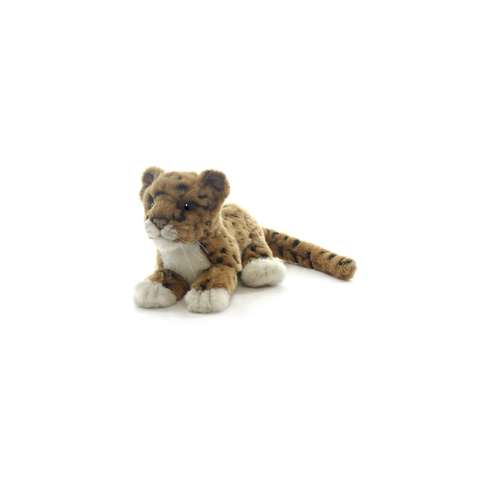 Мягкая игрушка Hansa Детеныш ягуара, 26 смМягкие игрушки животные<br>Характеристики товара:<br><br>• возраст: от 3 лет;<br>• материал: искусственный мех;<br>• длина игрушки: 26 см;<br>• размер упаковки: 26х11х16 см;<br>• вес упаковки: 125 гр.;<br>• страна производитель: Филиппины.<br><br>Мягкая игрушка Детеныш ягуара Hansa 26 см — очаровательный пушистый ягуар с глазками-пуговками, который станет для ребенка любимым домашним питомцем. Игрушку можно брать с собой на прогулку, в детский садик, в гости и устраивать вместе с друзьями веселые игры. <br><br>Внутри проходит титановый каркас, который позволяет менять положение лап, туловища, поворачивать голову. Игрушка сделана из качественных безопасных материалов.<br><br>Мягкую игрушку Детеныш ягуара Hansa 26 см можно приобрести в нашем интернет-магазине.<br><br>Ширина мм: 260<br>Глубина мм: 110<br>Высота мм: 160<br>Вес г: 125<br>Возраст от месяцев: 36<br>Возраст до месяцев: 2147483647<br>Пол: Унисекс<br>Возраст: Детский<br>SKU: 6680732