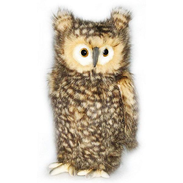 Мягкая игрушка Hansa Сова (голова поворачивается), 34 смМягкие игрушки животные<br>Характеристики товара:<br><br>• возраст: от 3 лет;<br>• материал: искусственный мех;<br>• высота игрушки: 34 см;<br>• размер упаковки: 34х21х19 см;<br>• вес упаковки: 383 гр.;<br>• страна производитель: Филиппины.<br><br>Мягкая игрушка Сова Hansa 34 см — очаровательная пятнистая сова с глазками-пуговками, которая станет для ребенка любимым домашним питомцем. Игрушку можно брать с собой на прогулку, в детский садик, в гости и устраивать вместе с друзьями веселые игры. <br><br>Внутри проходит титановый каркас, который позволяет менять положение лап, туловища, крыльев, поворачивать голову. Игрушка сделана из качественных безопасных материалов.<br><br>Мягкую игрушку Сова Hansa 34 см можно приобрести в нашем интернет-магазине.<br><br>Ширина мм: 190<br>Глубина мм: 210<br>Высота мм: 340<br>Вес г: 383<br>Возраст от месяцев: 36<br>Возраст до месяцев: 2147483647<br>Пол: Унисекс<br>Возраст: Детский<br>SKU: 6680736