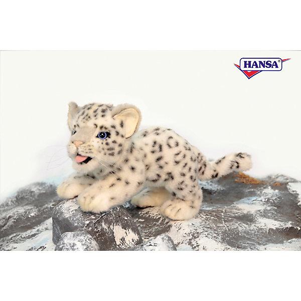 Мягкая игрушка Hansa Детеныш снежного барса, 30 смМягкие игрушки животные<br>Характеристики товара:<br><br>• возраст: от 3 лет;<br>• материал: искусственный мех;<br>• длина игрушки: 30 см;<br>• размер упаковки: 27х17х12 см;<br>• вес упаковки: 95 гр.;<br>• страна производитель: Филиппины.<br><br>Мягкая игрушка Детеныш снежного барса Hansa 30 см — очаровательный пушистый барс с глазками-пуговками, который станет для ребенка любимым домашним питомцем. Игрушку можно брать с собой на прогулку, в детский садик, в гости и устраивать вместе с друзьями веселые игры. <br><br>Внутри проходит титановый каркас, который позволяет менять положение лап, туловища, поворачивать голову. Игрушка сделана из качественных безопасных материалов.<br><br>Мягкую игрушку Детеныш снежного барса Hansa 30 см можно приобрести в нашем интернет-магазине.<br>Ширина мм: 270; Глубина мм: 170; Высота мм: 120; Вес г: 95; Возраст от месяцев: 36; Возраст до месяцев: 2147483647; Пол: Унисекс; Возраст: Детский; SKU: 6680739;