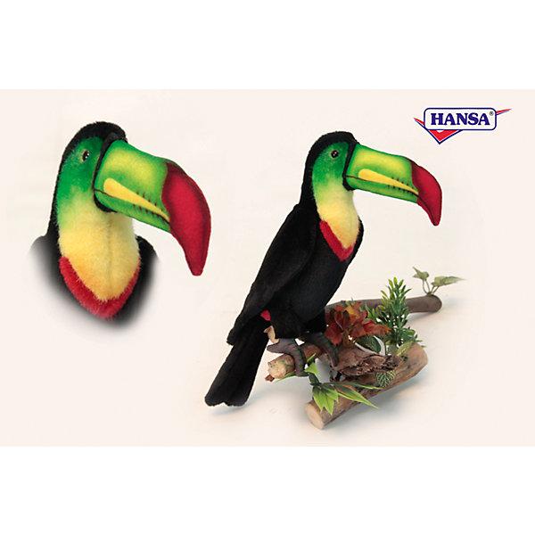 Мягкая игрушка Hansa Тукан, 33 смМягкие игрушки животные<br>Характеристики товара:<br><br>• возраст: от 3 лет;<br>• материал: искусственный мех;<br>• высота игрушки: 33 см;<br>• размер упаковки: 33х22х10 см;<br>• вес упаковки: 105 гр.;<br>• страна производитель: Филиппины.<br><br>Мягкая игрушка Тукан Hansa 33 см — необычная птичка с большим зеленым клювом, которая станет для ребенка любимым домашним питомцем. Игрушку можно брать с собой на прогулку, в детский садик, в гости и устраивать вместе с друзьями веселые игры. <br><br>Внутри проходит титановый каркас, который позволяет менять положение лап, туловища, поворачивать голову. Игрушка сделана из качественных безопасных материалов.<br><br>Мягкую игрушку Тукан Hansa 33 см можно приобрести в нашем интернет-магазине.<br><br>Ширина мм: 220<br>Глубина мм: 330<br>Высота мм: 100<br>Вес г: 105<br>Возраст от месяцев: 36<br>Возраст до месяцев: 2147483647<br>Пол: Унисекс<br>Возраст: Детский<br>SKU: 6680745