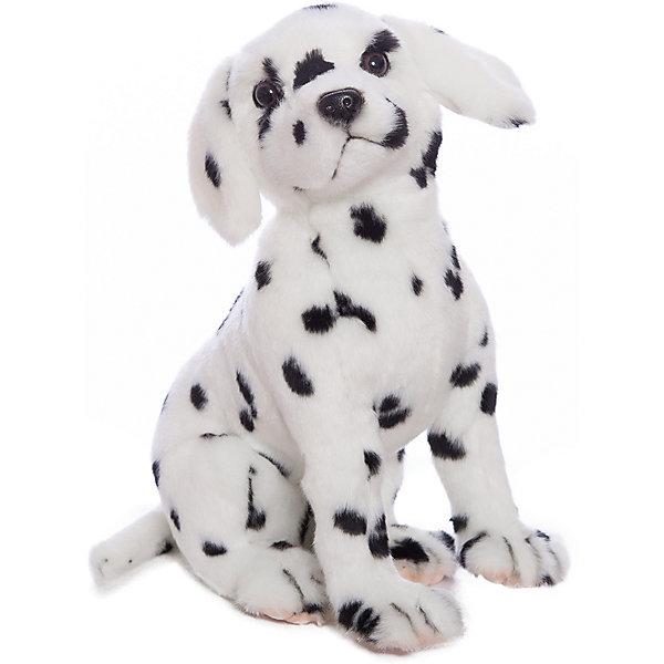 Мягкая игрушка Hansa Далматинец сидящий, 30 смСимвол 2018 года: Собака<br>Характеристики товара:<br><br>• возраст: от 3 лет;<br>• материал: искусственный мех;<br>• высота игрушки: 30 см;<br>• размер упаковки: 30х33х18 см;<br>• вес упаковки: 210 гр.;<br>• страна производитель: Филиппины.<br><br>Мягкая игрушка Далматинец Hansa 30 см — очаровательный пятнистый щенок далматинца, который станет для ребенка любимым домашним питомцем. Игрушку можно брать с собой на прогулку, в детский садик, в гости и устраивать вместе с друзьями веселые игры. <br><br>Внутри проходит титановый каркас, который позволяет менять положение лап, туловища, поворачивать голову. Игрушка сделана из качественных безопасных материалов.<br><br>Мягкую игрушку Далматинец Hansa 30 см можно приобрести в нашем интернет-магазине.<br><br>Ширина мм: 300<br>Глубина мм: 330<br>Высота мм: 180<br>Вес г: 210<br>Возраст от месяцев: 36<br>Возраст до месяцев: 2147483647<br>Пол: Унисекс<br>Возраст: Детский<br>SKU: 6680751