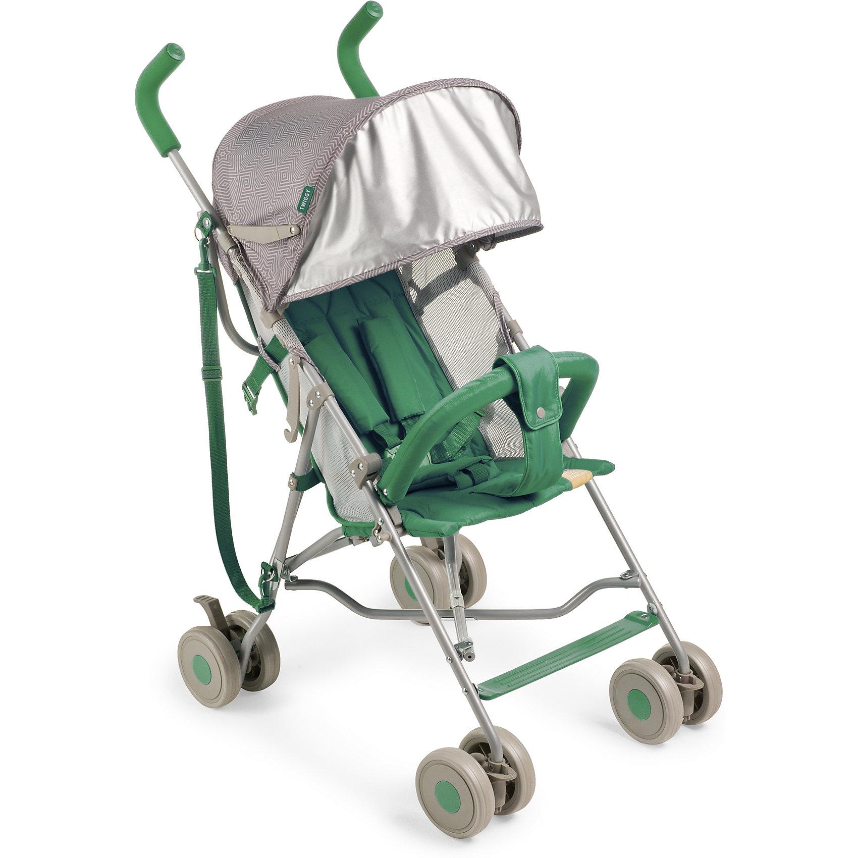 Коляска-трость Happy Baby Twiggy, зеленыйКоляски-трости более 7 кг.<br>Характеристики:<br><br>• регулируемое наклон спинки коляски, 2 положения: сидя и полусидя;<br>• имеется гибкая пластиковая подножка;<br>• съемный защитный бампер с мягким паховым ограничителем;<br>• 5-ти точечные ремни безопасности;<br>• капюшон оснащен солнцезащитным козырьком;<br>• сдвоенные колеса;<br>• передние поворотные колеса с блокировкой;<br>• задние колеса с независимыми рычагами тормоза;<br>• тип складывания: трость;<br>• плечевой ремень для транспортировки коляски на плече в сложенном виде;<br>• предусмотрен крючок для блокировки коляски-трости;<br>• в комплекте съемный подстаканник и инструкция;<br>• материал: алюминий, пластик, полиэстер.<br><br>Размеры: <br><br>• размер коляски: 74х51х98 см;<br>• размер коляски в сложенном виде: 109х29х34 см;<br>• вес коляски: 5,6 кг;<br>• вес коляски без бампера и капора: 4,6 кг;<br>• ширина сиденья: 30 см;<br>• глубина сиденья: 26 см;<br>• диаметр колес: 13 см;<br>• допустимая нагрузка: до 15 кг;<br>• вес в упаковке: 6,8 кг.<br><br>Коляску-трость Happy Baby Twiggy, цвет зеленый можно купить в нашем интернет-магазине.<br><br>Ширина мм: 305<br>Глубина мм: 190<br>Высота мм: 1130<br>Вес г: 6800<br>Цвет: зеленый<br>Возраст от месяцев: 7<br>Возраст до месяцев: 36<br>Пол: Унисекс<br>Возраст: Детский<br>SKU: 6681544