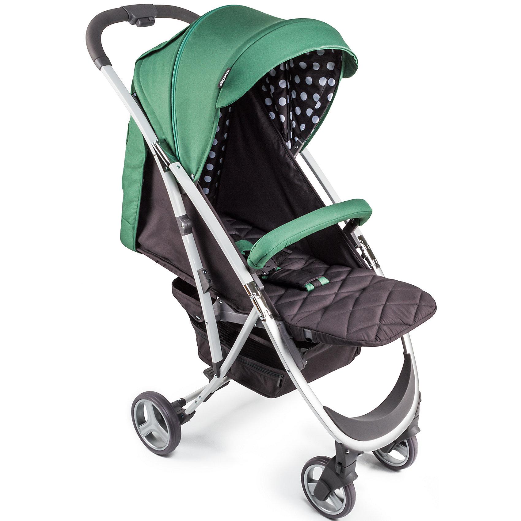 Прогулочная коляска Happy Baby Eleganza V2, зеленый