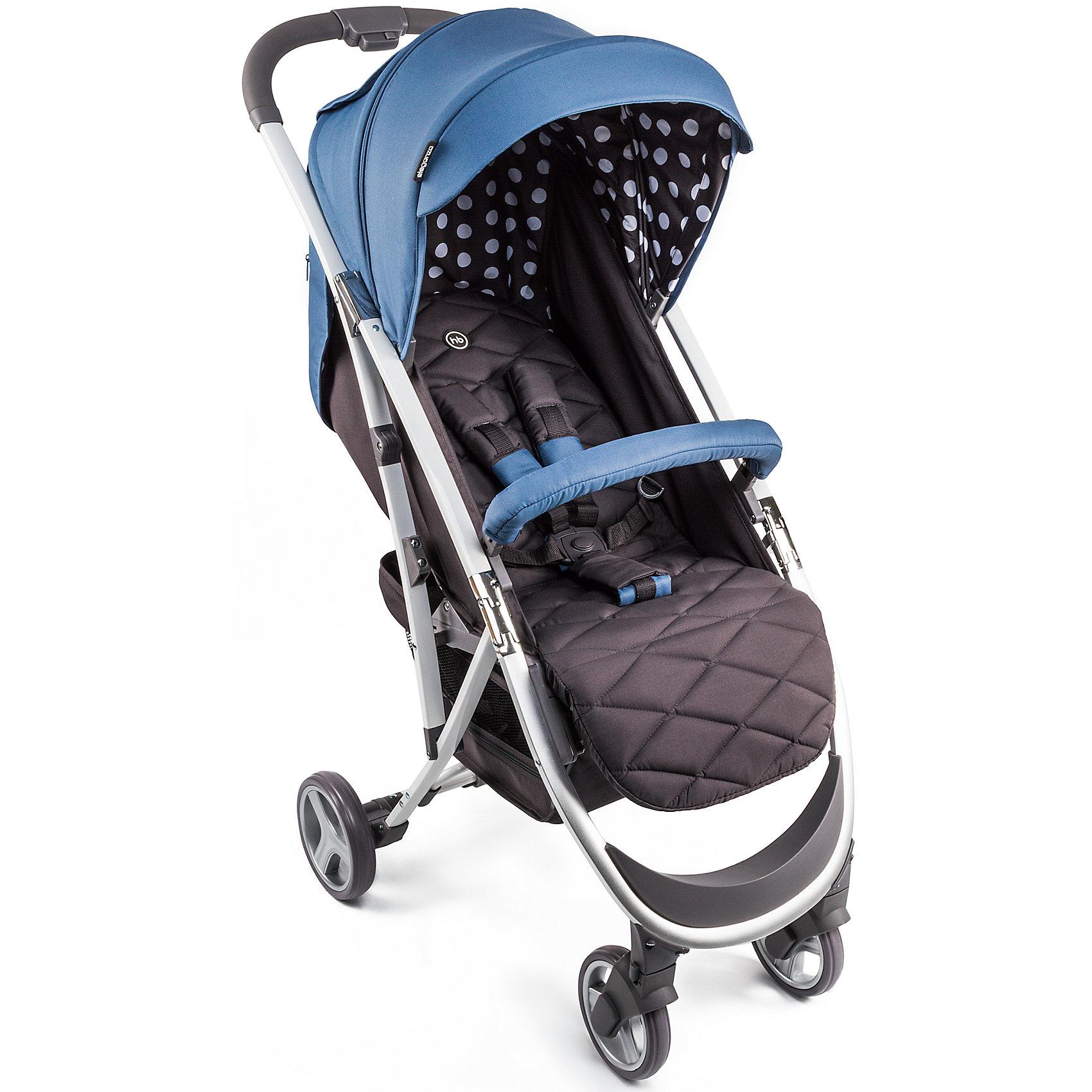 Прогулочная коляска Happy Baby Eleganza V2, синийПрогулочные коляски для лета<br>Модель ELEGANZA V2 объединяет в себе стиль и отличные ходовые данные, которые по достоинству оценят как владельцы коляски, так и окружающие. Коляска легко складывается одной рукой, имеет амортизацию на передних и задних колесах и занимает мало места в сложенном виде. При весе всего 6,9 кг коляска ELEGANZA V2 имеет съемный бампер, козырек с окошком, регулируемую спинку. Комплектуется дождевиком, чехлом на ножки, москитной сеткой и корзиной.<br>Характеристики:<br>Возраст: от 7 месяцев<br>Максимальный вес ребенка: 15 кг<br>Вес коляски: 7,1 кг<br>Ширина сиденья: 34 см<br>Глубина сиденья: 22 см<br>Длина спального места: 86 см<br>Ширина колесной базы: 50 см<br>Диаметр колес: передние — 15,2 см, задние — 16,8 см<br>Колёсная база: передние поворотные колеса (360°) с возможностью фиксации<br>Регулировка ручки: нет<br>Тип складывания: книжка<br>Габариты в сложенном виде ДхШхВ: 63*50*31 см<br>Габариты в разложенном виде ДхШхВ: 88*50*107 см<br>Регулировка наклона спинки, 3 положения<br>Регулируемая подножка, 2 положения<br>Складывается одной рукой<br>Новый увеличенный капюшон опускается до бампера<br>Смотровое окошко теперь закрывается козырьком на магните<br>Новый карман для мелочей на капюшоне<br>Тормозная педаль на оси задних колес<br>Вместительная корзина для покупок теперь с дополнительной молнией<br>Пятиточечные ремни безопасности с мягкими накладками<br>Колеса: пластиковые с покрытием EVA (этиленвинилацетат)<br>Амортизация на передних и задних колесах<br>В комплекте: дождевик, чехол на ножки, москитная сетка, корзина для покупок.<br><br>Ширина мм: 250<br>Глубина мм: 445<br>Высота мм: 700<br>Вес г: 8900<br>Возраст от месяцев: 7<br>Возраст до месяцев: 36<br>Пол: Унисекс<br>Возраст: Детский<br>SKU: 6681552