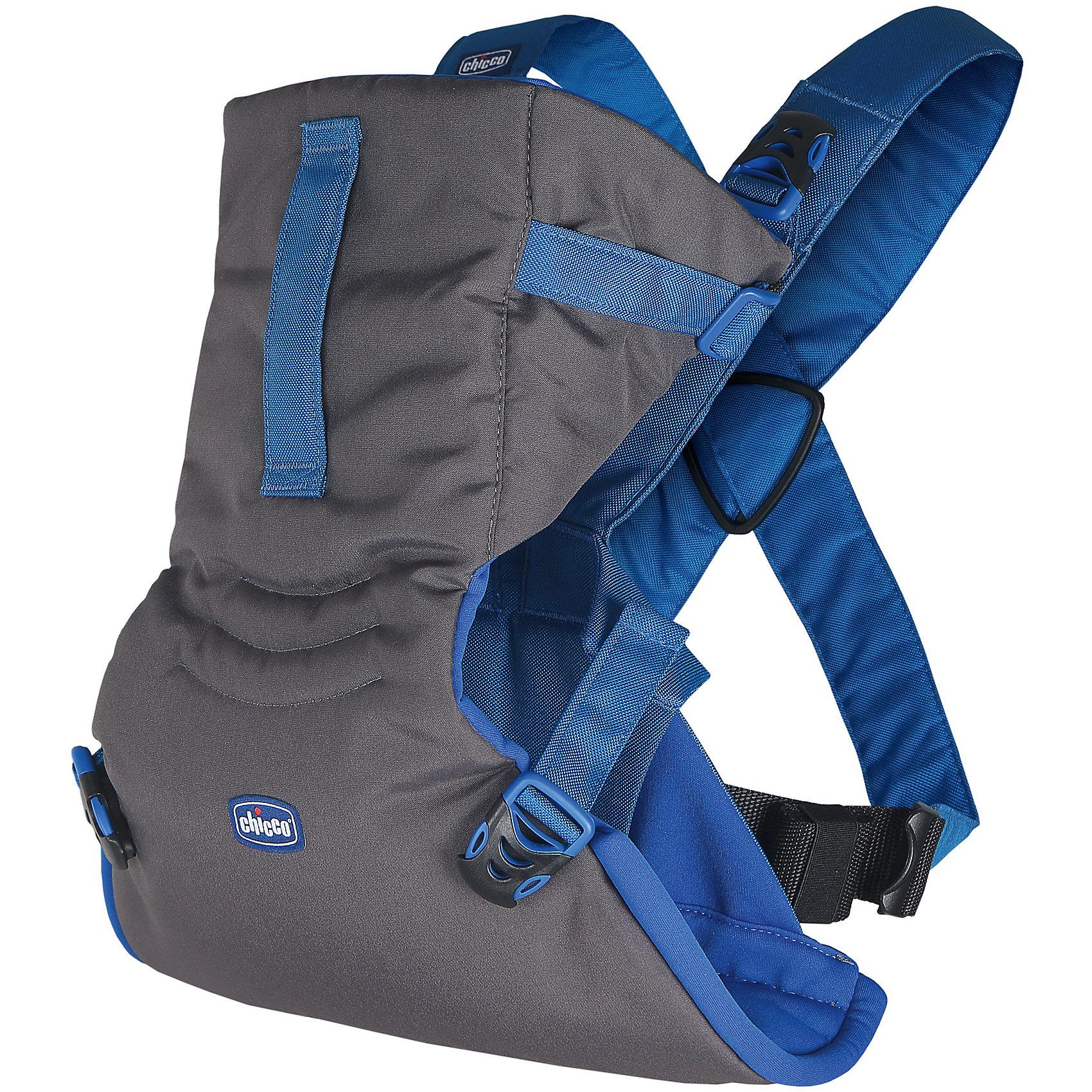 Переноска-кенгуру Easy Fit, Chicco, power blueСлинги и рюкзаки-переноски<br>Характеристики:<br><br>• носится как футболка; <br>• обеспечивает безопасное положение ребенка во время прогулок;<br>• эргомичное сиденье обеспечивает правильное положение бедер ребенка;<br>• можно подстроить под комплекцию каждого ребенка;<br>• ножки малыша анатомически правильно расположены;<br>• позвоночник развивается правильно;<br>• малыш свободно дышит, имеется расстояние от спинки до личика; <br>• можно уложить даже спящего ребенка;<br>• два положения: лицом к маме, спинкой к маме;<br>• когда ребенок подрастет, мама может поддерживать ножки малыша, создавая упор для прыжков в вертикальном положении;<br>• на капюшоне-подголовнике расположена ручка-ремешок, чтобы маме было удобнее поддерживать головку подросшего ребенка;<br>• петелька для крепления держателя от пустышки, легкой развивающей игрушки или прорезывателя;<br>• рюкзак компактно складывается, есть возможность зафиксировать в сложенном виде;<br>• понятная регулировка ремней;<br>• допускается стирка при температуре 30 градусов;<br>• протестировано педиатрами;<br>• максимальный вес ребенка: 9 кг;<br>• размер переноски: 30х15 см;<br>• вес переноски: 400 г.<br><br>Переноску-кенгуру Easy Fit, Chicco, power blue можно купить в нашем интернет-магазине.<br><br>Ширина мм: 160<br>Глубина мм: 110<br>Высота мм: 305<br>Вес г: 557<br>Возраст от месяцев: 0<br>Возраст до месяцев: 9<br>Пол: Мужской<br>Возраст: Детский<br>SKU: 6682747