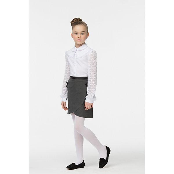 Блузка для девочки СменаБлузки и рубашки<br>Характеристики товара:<br><br>• цвет: белый<br>• состав: 70% хлопок, 27% полиэстер, 3% полиуретан <br>• сезон: демисезон<br>• особенности: школьная<br>• съемный воротник<br>• приятная на ощупь ткань<br>• длинные рукава<br>• страна бренда: Российская Федерация<br>• страна производства: Российская Федерация<br><br>Школьная блузка с длинным рукавом для девочки. Белая блузка застегивается на пуговицы, у блузки ажурные рукава и съемный ажурный воротник на пуговице.<br><br>Блузку для девочки Смена можно купить в нашем интернет-магазине.<br>Ширина мм: 186; Глубина мм: 87; Высота мм: 198; Вес г: 197; Цвет: белый; Возраст от месяцев: 96; Возраст до месяцев: 108; Пол: Женский; Возраст: Детский; Размер: 134,128,122,164,158,152,146,140; SKU: 6683901;