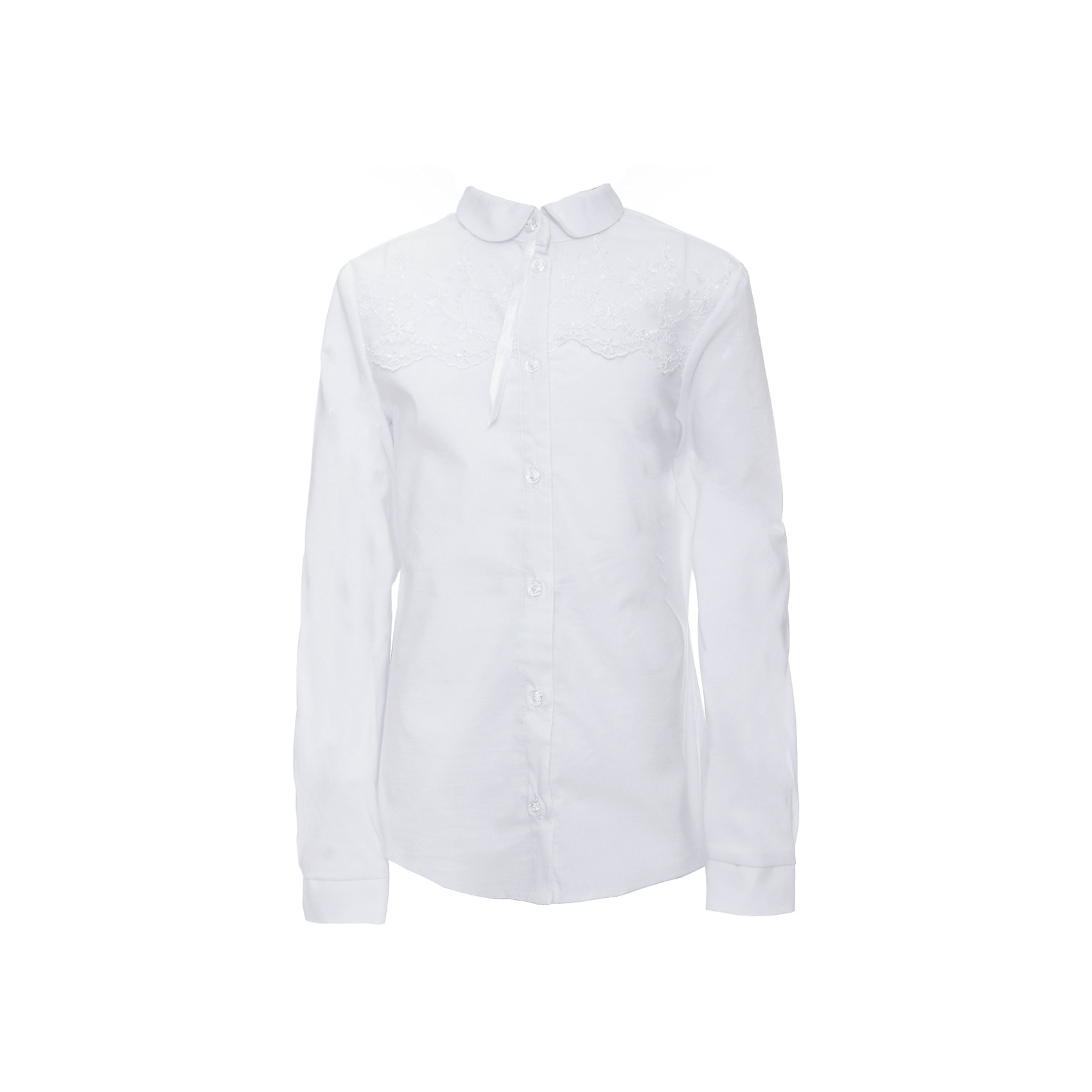 Блузка для девочки СменаБлузки и рубашки<br>Характеристики товара:<br><br>• цвет: белый<br>• состав ткани: 70% хлопок, 27% полиэстер, 3% полиуретан<br>• сезон: круглый год<br>• особенности модели: нарядная, школьная<br>• застежка: на пуговицах<br>• с длинным рукавом<br>• страна бренда: Россия<br>• страна изготовитель: Россия<br><br>Блузка для девочки Смена выполнена из однотонной ткани с добавлением хлопка. Застегивается на пуговицы.<br><br>Российский бренд Смена давно известен отечественным покупателям. Одежда от него отличается высоким качеством, есть широкая линейка современной одежды для школы.<br><br>Блузку для девочки Смена можно купить в нашем интернет-магазине.<br><br>Ширина мм: 186<br>Глубина мм: 87<br>Высота мм: 198<br>Вес г: 197<br>Цвет: белый<br>Возраст от месяцев: 156<br>Возраст до месяцев: 168<br>Пол: Женский<br>Возраст: Детский<br>Размер: 164,146,152,158<br>SKU: 6683919
