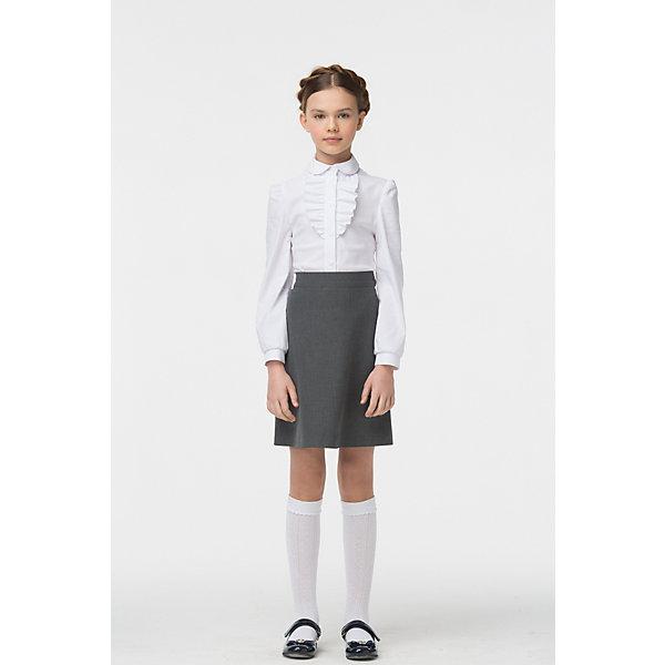 Блузка для девочки СменаБлузки и рубашки<br>Характеристики товара:<br><br>• цвет: белый<br>• состав: 70% хлопок, 27% полиэстер, 3% полиуретан <br>• сезон: демисезон<br>• особенности: школьная<br>• приятная на ощупь ткань<br>• декорирована рюшами<br>• длинные рукава<br>• страна бренда: Российская Федерация<br>• страна производства: Российская Федерация<br><br>Школьная блузка с длинным рукавом для девочки. Блузка с рюшами около воротника. Белая блузка застегивается на пуговицы.<br><br>Блузку для девочки Смена можно купить в нашем интернет-магазине.<br><br>Ширина мм: 186<br>Глубина мм: 87<br>Высота мм: 198<br>Вес г: 197<br>Цвет: белый<br>Возраст от месяцев: 72<br>Возраст до месяцев: 84<br>Пол: Женский<br>Возраст: Детский<br>Размер: 122,140,134,128<br>SKU: 6683924