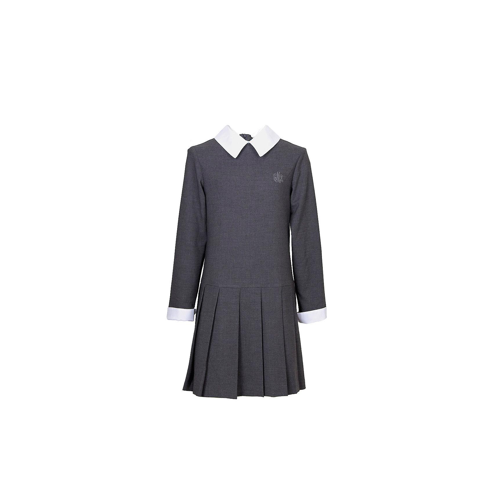 Платье для девочки СменаПлатья и сарафаны<br>Характеристики товара:<br><br>• цвет: серый;<br>• состав: 48% вискоза, 48% полиэстер, 4% полиуретан;<br>• сезон: демисезон;<br>• особенности: школьное;<br>• с длинным рукавом;<br>• юбка в складку;<br>• застежка: молния на спине;<br>• страна бренда: Россия;<br>• страна производства: Россия.<br><br>Школьное платье с длинным рукавом для девочки. Платье в складку внизу, застегивается на молнию на спинке. Декорировано вышивкой на груди. Манжеты рукавов и воротник контрастного белого цвета.<br><br>Платье для девочки Смена можно купить в нашем интернет-магазине.<br><br>Ширина мм: 236<br>Глубина мм: 16<br>Высота мм: 184<br>Вес г: 177<br>Цвет: серый<br>Возраст от месяцев: 60<br>Возраст до месяцев: 72<br>Пол: Женский<br>Возраст: Детский<br>Размер: 116,164,122,128,134,140,152,146,158<br>SKU: 6684052
