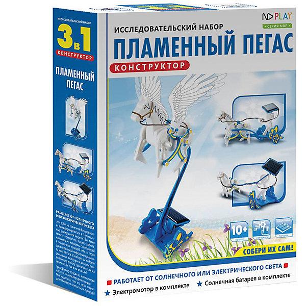 Пламенный Пегас, 3 в 1Наборы для робототехники<br>Характеристики товара:<br><br>• возраст: от 10 лет;<br>• материал: пластик;<br>• в комплекте: 84 детали;<br>• размер упаковки: 25х19х5 см;<br>• вес упаковки: 271 гр.;<br>• страна производитель: Китай.<br><br>Конструктор «Пламенный Пегас 3 в 1» ND Play позволит детям не только увлекательно провести время, но и поможет развить навыки конструирования, познакомит с принципом работы солнечной батареи. В процессе сборки развиваются логическое мышление, смекалка, внимательность, усидчивость. <br><br>Из элементов конструктора собираются 3 модели, дополненные фигуркой белоснежного Пегаса. Все модели работают под воздействием солнечной энергии. Все детали выполнены из качественного безопасного пластика и собираются между собой без дополнительных инструментов.<br><br>Конструктор «Пламенный Пегас 3 в 1» ND Play можно приобрести в нашем интернет-магазине.<br><br>Ширина мм: 190<br>Глубина мм: 50<br>Высота мм: 250<br>Вес г: 271<br>Возраст от месяцев: 120<br>Возраст до месяцев: 2147483647<br>Пол: Мужской<br>Возраст: Детский<br>SKU: 6709645