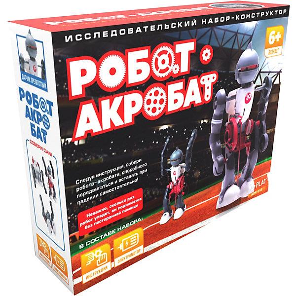 Робот-акробатРобототехника и электроника<br>Характеристики товара:<br><br>• возраст: от 8 лет;<br>• материал: пластик;<br>• в комплекте: 12 деталей;<br>• размер упаковки: 23,5х19х6 см;<br>• вес упаковки: 299 гр.;<br>• страна производитель: Китай.<br><br>Конструктор «Робот-акробат» ND Play позволит познакомиться с конструированием и роботостроением, а также построить своего настоящего интерактивного робота. Робот выполняет удивительные акробатические трюки, умеет ходить и сидеть. Датчики на животе, ногах и спине реагируют при падении робота и позволяют ему встать и продолжить свой путь.<br><br>Все элементы выполнены из качественного безопасного пластика и собираются без дополнительных инструментов. В процессе сборки у ребенка развиваются логическое мышление, усидчивость, внимательность.<br><br>Конструктор «Робот-акробат» ND Play можно приобрести в нашем интернет-магазине.<br>Ширина мм: 235; Глубина мм: 60; Высота мм: 190; Вес г: 299; Возраст от месяцев: 96; Возраст до месяцев: 2147483647; Пол: Мужской; Возраст: Детский; SKU: 6709648;