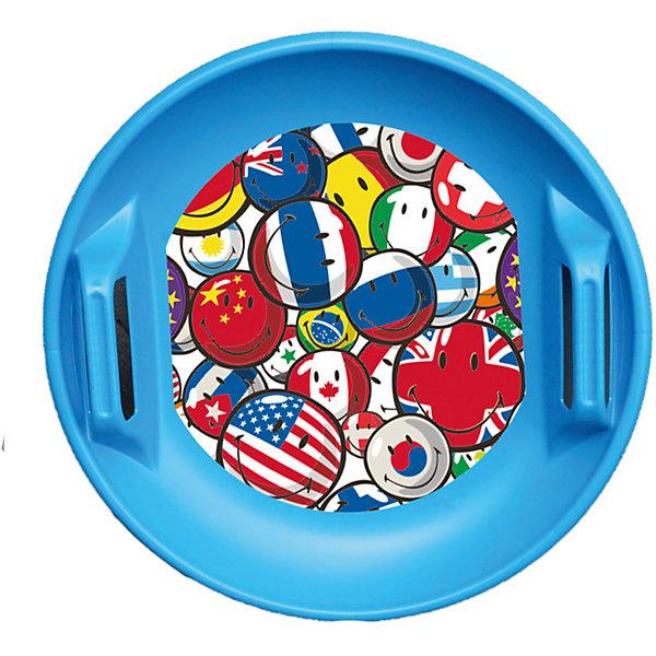 Ледянка Смайли, синяяЛедянки<br>Характеристики:<br><br>• возраст: от 2 лет;<br>• материал: пластик;<br>• диаметр: 59 см;<br>• глубина: 6 см;<br>• ручки по бокам;<br>• размер упаковки: 59х69х6 см;<br>• вес упаковки: 790 гр.;<br>• страна производитель: Россия.<br><br>Ледянка Смайли синяя отлично подойдет для активного времяпрепровождения и игр зимой на свежем воздухе. Она предназначена для скоростного спуска со снежных и ледяных горок.<br><br>Ледянка имеет округлую форму и напоминает овальную тарелку. Такая форма позволяет комфортно расположиться на ледянке и развить хорошую скорость. 2 ручки по бокам отвечают за безопасность во время катания. Ледянка украшена изображением с термопечатью. Выполнена из качественного и прочного пластика.<br><br>Ледянку Смайли синюю можно приобрести в нашем интернет-магазине.<br><br>Ширина мм: 590<br>Глубина мм: 590<br>Высота мм: 60<br>Вес г: 790<br>Возраст от месяцев: 24<br>Возраст до месяцев: 120<br>Пол: Унисекс<br>Возраст: Детский<br>SKU: 6718738