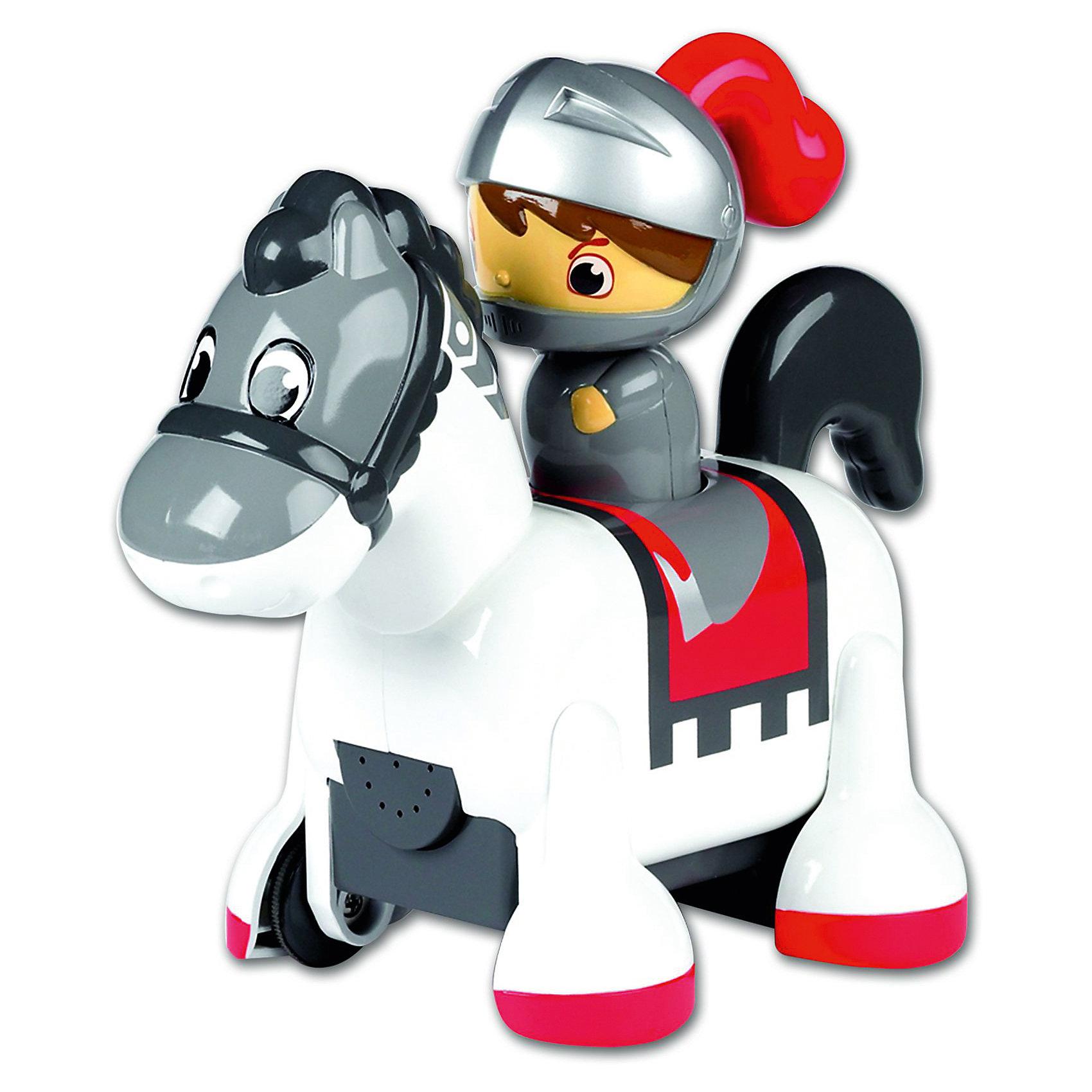 Интерактивная игрушка Tomy Всадник, РыцарьСолдатики и рыцари<br>Характеристики:<br><br>• возраст: от 12 месяцев;<br>• материал: пластик;<br>• в комплекте: всадник, лошадка;<br>• тип батареек: 3 батарейки ААА;<br>• наличие батареек: в комплект не входят;<br>• размер упаковки: 21х25х14 см;<br>• вес упаковки: 600 гр.;<br>• страна производитель: Китай.<br><br>Игрушка «Принц-всадник» Tomy — удивительная интерактивная игрушка для малышей. На лошадке сидит всадник. Если нажать на голову всадника, то лошадка отправится в путь. В самом начале пути она поприветствует ребенка ржанием. Во время движения лошадка двигает головой и цокает копытами, а в конце пути забавно фыркает.<br><br>Игрушку «Принц-всадник» Tomy можно приобрести в нашем интернет-магазине.<br><br>Ширина мм: 250<br>Глубина мм: 140<br>Высота мм: 210<br>Вес г: 600<br>Возраст от месяцев: 12<br>Возраст до месяцев: 2147483647<br>Пол: Мужской<br>Возраст: Детский<br>SKU: 6722016