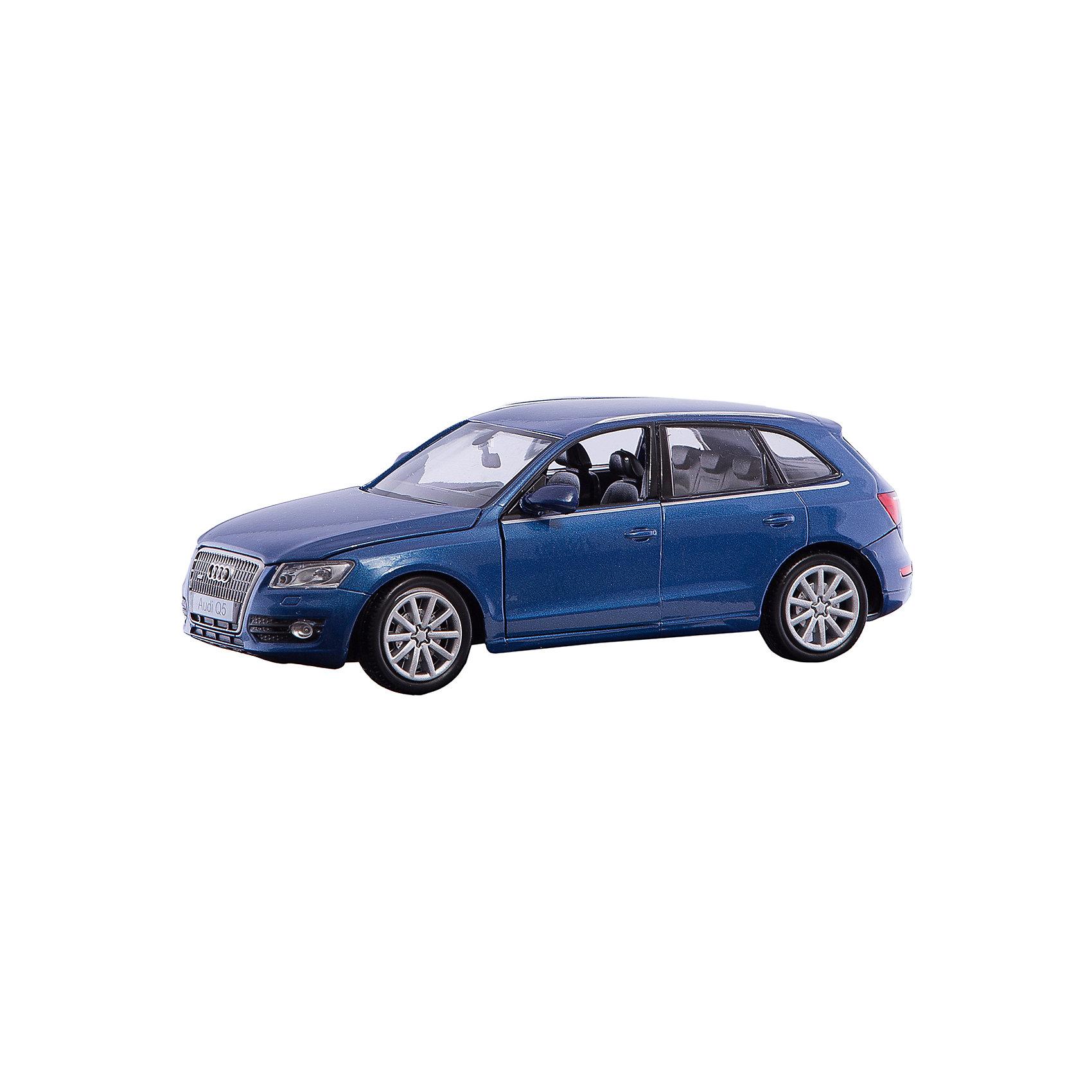 Машина AUDI Q5, 1:24, синяяМашинки<br>Характеристики:<br><br>• возраст: от 6 лет;<br>• материал: пластик, металл;<br>• в комплекте: машина, пульт;<br>• тип батареек: 5 батареек АА;<br>• наличие батареек: в комплект не входят;<br>• масштаб: 1:24;<br>• размер машины: 18,5х9,5х7 см;<br>• размер упаковки: 24,5х11,5х10,2 см;<br>• вес упаковки: 542 гр.;<br>• страна производитель: Китай.<br><br>Машина «AUDI Q5» синяя представляет собой уменьшенную копию настоящего автомобиля Audi. Машинка управляется при помощи пульта управления и может ездить вперед, назад, влево и вправо. Она может развивать скорость до 7 км/час. Дальность действия пульта управления до 45 метров.<br><br>Машинка выполнена из качественных прочных материалов. С ней мальчишки смогут устроить захватывающие заезды и гонки.<br><br>Машину «AUDI Q5» синюю можно приобрести в нашем интернет-магазине.<br><br>Ширина мм: 245<br>Глубина мм: 112<br>Высота мм: 102<br>Вес г: 542<br>Возраст от месяцев: 72<br>Возраст до месяцев: 2147483647<br>Пол: Мужской<br>Возраст: Детский<br>SKU: 6722021