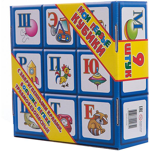 Кубики Алфавит, 9 элементов, Десятое королевствоРазвивающие игрушки<br>Характеристики:<br><br>• возраст: от 3 лет<br>• в наборе: 9 кубиков<br>• размер кубика: 8х8 см.<br>• материал: пластик<br>• размер упаковки: 25х24,5х8,5 см.<br>• вес: 510 гр.<br><br>Кубики Алфавит предназначены для самых маленьких. В наборе представлено 9 больших красочных кубиков с нанесенными на грани буквами русского алфавита и изображениями предметов, названия которых начинаются с этих букв. Размер кубиков оптимален для маленьких детских рук. <br><br>Кубики не имеют острых углов. Они легкие и прочные. Кубики изготовлены из высококачественного пластика, окрашены устойчивыми яркими нетоксичными красителями, которые и не истираются со временем.<br><br>Кубики Алфавит, 9 элементов, Десятое королевство можно купить в нашем интернет-магазине.<br>Ширина мм: 255; Глубина мм: 245; Высота мм: 85; Вес г: 591; Возраст от месяцев: 36; Возраст до месяцев: 2147483647; Пол: Унисекс; Возраст: Детский; SKU: 6723911;