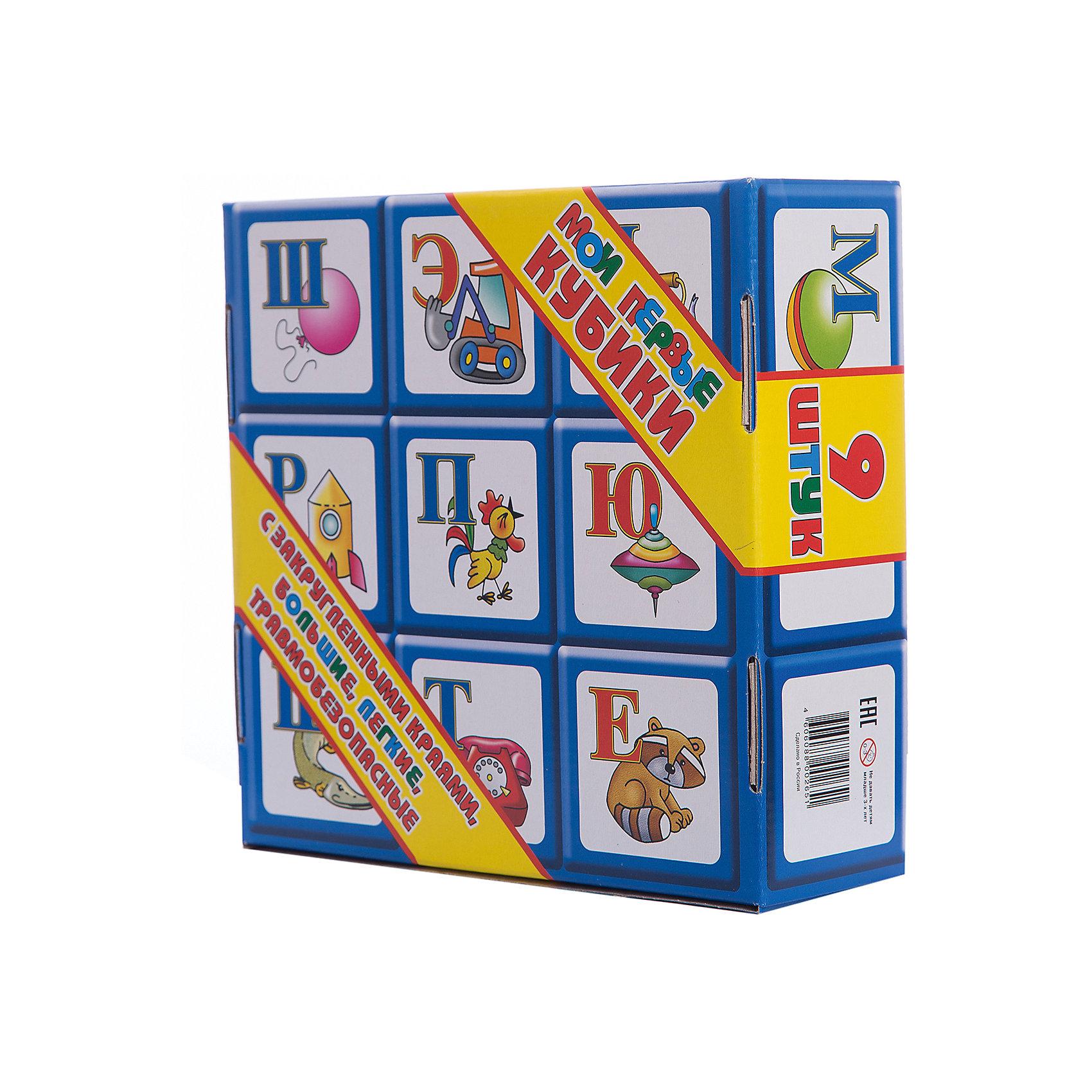 Кубики Алфавит, 9 элементов, Десятое королевствоКубики<br>Характеристики:<br><br>• возраст: от 3 лет<br>• в наборе: 9 кубиков<br>• размер кубика: 8х8 см.<br>• материал: пластик<br>• размер упаковки: 25х24,5х8,5 см.<br>• вес: 510 гр.<br><br>Кубики Алфавит предназначены для самых маленьких. В наборе представлено 9 больших красочных кубиков с нанесенными на грани буквами русского алфавита и изображениями предметов, названия которых начинаются с этих букв. Размер кубиков оптимален для маленьких детских рук. <br><br>Кубики не имеют острых углов. Они легкие и прочные. Кубики изготовлены из высококачественного пластика, окрашены устойчивыми яркими нетоксичными красителями, которые и не истираются со временем.<br><br>Кубики Алфавит, 9 элементов, Десятое королевство можно купить в нашем интернет-магазине.<br><br>Ширина мм: 255<br>Глубина мм: 245<br>Высота мм: 85<br>Вес г: 591<br>Возраст от месяцев: 36<br>Возраст до месяцев: 2147483647<br>Пол: Унисекс<br>Возраст: Детский<br>SKU: 6723911