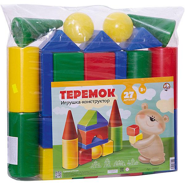 Набор Теремок, 27 элементов, Десятое королевствоКонструкторы для малышей<br>Характеристики:<br><br>• возраст: от 3 лет<br>• в наборе: кубик 4 шт. (8х8 см), большой цилиндр 4 шт. (?8х16 см), малый цилиндр 2 шт. (?8х8 см), конус 2 шт. (?8х13 см), треугольная призма 7 шт.(8х8 см), прямоугольная призма 4 шт. (16х8х3 см), шар 2 шт. (?8 см), арка 2 шт. (16х8х8 см)<br>• количество элементов: 27<br>• материал: выдувная пластмасса<br>• упаковка: сумка ПВХ<br>• размер упаковки: 50х43х8 см.<br>• вес: 880 гр.<br><br>Конструктор «Теремок» от российского производителя Десятое королевство предназначен для детей дошкольного возраста. Он состоит из ярких цветных фигур различной формы. Из элементов конструктора малыш сможет построить самый настоящий сказочный теремок с крышей и башенками, а также — множество других сооружений. <br><br>Все элементы изготовлены из прочного и безопасного пластика. Внутри они полые, поэтому легкие и подходят даже для самых маленьких строителей. Конструктор упакован в прозрачную сумку. Игра с конструктором развивает у детей мелкую моторику, логическое мышление, цветовое восприятие.<br><br>Набор Теремок, 27 элементов, Десятое королевство можно купить в нашем интернет-магазине.<br>Ширина мм: 430; Глубина мм: 500; Высота мм: 80; Вес г: 880; Возраст от месяцев: 36; Возраст до месяцев: 2147483647; Пол: Унисекс; Возраст: Детский; SKU: 6723921;