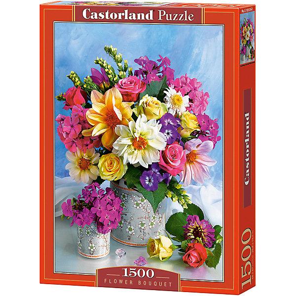 Пазл Castorland Букет цветов, 1500 деталейПазлы классические<br>Характеристики:<br><br>• возраст: от 9 лет<br>• количество деталей: 1500 шт.<br>• размер собранного пазла: 47х68 см.<br>• материал: картон<br>• упаковка: картонная коробка<br>• размер упаковки: 25x5x35 см.<br>• вес: 600 гр.<br>• страна обладатель бренда: Польша<br><br>Пазл «Букет цветов» от Castorland (Касторленд) отличается высоким качеством, высоким уровнем полиграфии, насыщенными цветами и идеальной стыковкой элементов. Элементы пазла изготовлены из плотного, не расслаивающегося картона. Пазл «Букет цветов» предназначен для сборки детьми среднего и старшего возраста и, конечно, для взрослых. Из 1500 элементов пазла складывается красивая картина с изображением прекрасного букета цветов.<br><br>Пазл Букет цветов, 1500 деталей, Castorland (Касторленд) можно купить в нашем интернет-магазине.<br>Ширина мм: 350; Глубина мм: 250; Высота мм: 50; Вес г: 600; Возраст от месяцев: 108; Возраст до месяцев: 2147483647; Пол: Женский; Возраст: Детский; SKU: 6725079;