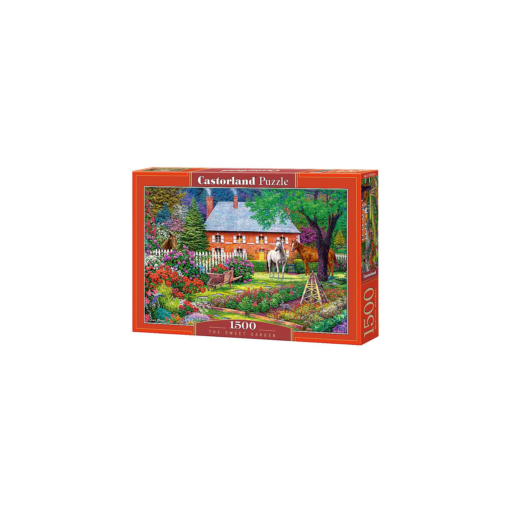 Пазл Castorland Чудесный сад, 1500 деталейПазлы для детей постарше<br>Характеристики:<br><br>• возраст: от 9 лет<br>• количество деталей: 1500 шт.<br>• размер собранного пазла: 68х47 см.<br>• материал: картон<br>• упаковка: картонная коробка<br>• размер упаковки: 35x5x25 см.<br>• вес: 600 гр.<br>• страна обладатель бренда: Польша<br><br>Пазл «Чудесный сад» от Castorland (Касторленд) отличается высоким качеством, высоким уровнем полиграфии, насыщенными цветами и идеальной стыковкой элементов. Пазл «Чудесный сад» предназначен для сборки детьми среднего и старшего возраста и, конечно, для взрослых. Из 1500 элементов пазла складывается красивая картина с изображением живописного сада.<br><br>Пазл Чудесный сад, 1500 деталей, Castorland (Касторленд) можно купить в нашем интернет-магазине.<br><br>Ширина мм: 350<br>Глубина мм: 250<br>Высота мм: 50<br>Вес г: 600<br>Возраст от месяцев: 108<br>Возраст до месяцев: 2147483647<br>Пол: Унисекс<br>Возраст: Детский<br>SKU: 6725080