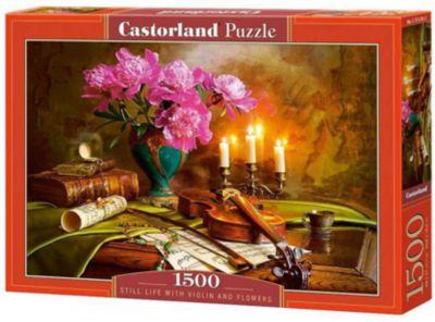 Пазл Castorland Натюрморт-скрипка. цветы , 1500 деталей