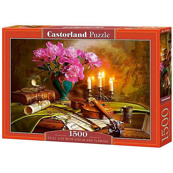 Пазл Castorland Натюрморт-скрипка. цветы, 1500 деталейПазлы классические<br>Характеристики:<br><br>• возраст: от 9 лет<br>• автор: Андрей Морозов<br>• количество деталей: 1500 шт.<br>• размер собранного пазла: 68х47 см.<br>• материал: картон<br>• упаковка: картонная коробка<br>• размер упаковки: 35x5x25 см.<br>• вес: 600 гр.<br>• страна обладатель бренда: Польша<br><br>Пазл «Натюрморт-скрипка. цветы» от Castorland (Касторленд) отличается высоким качеством, высоким уровнем полиграфии, насыщенными цветами и идеальной стыковкой элементов. Пазл «Натюрморт-скрипка. цветы» предназначен для сборки детьми среднего и старшего возраста и, конечно, для взрослых. Из 1500 элементов пазла складывается красивая картина с множеством художественных деталей.<br><br>Пазл Натюрморт-скрипка. цветы, 1500 деталей, Castorland (Касторленд) можно купить в нашем интернет-магазине.<br><br>Ширина мм: 350<br>Глубина мм: 250<br>Высота мм: 50<br>Вес г: 600<br>Возраст от месяцев: 108<br>Возраст до месяцев: 2147483647<br>Пол: Унисекс<br>Возраст: Детский<br>SKU: 6725081