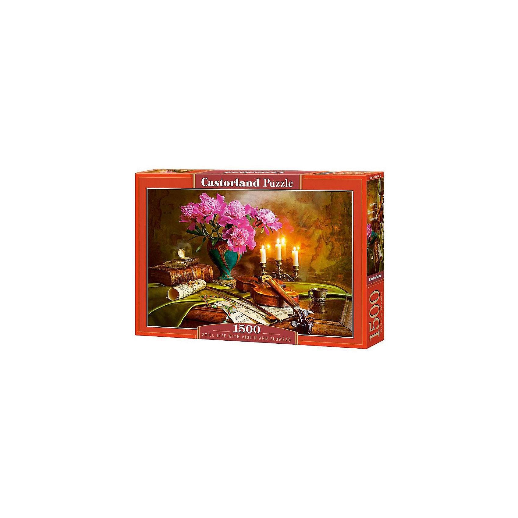 Пазл Castorland Натюрморт-скрипка. цветы, 1500 деталейКлассические пазлы<br>Характеристики:<br><br>• возраст: от 9 лет<br>• автор: Андрей Морозов<br>• количество деталей: 1500 шт.<br>• размер собранного пазла: 68х47 см.<br>• материал: картон<br>• упаковка: картонная коробка<br>• размер упаковки: 35x5x25 см.<br>• вес: 600 гр.<br>• страна обладатель бренда: Польша<br><br>Пазл «Натюрморт-скрипка. цветы» от Castorland (Касторленд) отличается высоким качеством, высоким уровнем полиграфии, насыщенными цветами и идеальной стыковкой элементов. Пазл «Натюрморт-скрипка. цветы» предназначен для сборки детьми среднего и старшего возраста и, конечно, для взрослых. Из 1500 элементов пазла складывается красивая картина с множеством художественных деталей.<br><br>Пазл Натюрморт-скрипка. цветы, 1500 деталей, Castorland (Касторленд) можно купить в нашем интернет-магазине.<br><br>Ширина мм: 350<br>Глубина мм: 250<br>Высота мм: 50<br>Вес г: 600<br>Возраст от месяцев: 108<br>Возраст до месяцев: 2147483647<br>Пол: Унисекс<br>Возраст: Детский<br>SKU: 6725081