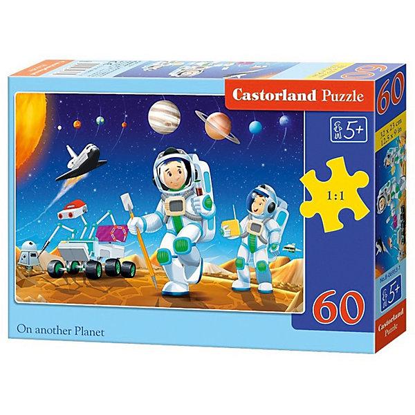 Пазл Castorland На другой планете, 60 деталейПазлы для малышей<br>Характеристики:<br><br>• возраст: от 5 лет<br>• количество деталей: 60 шт.<br>• размер собранного пазла: 32х23 см.<br>• материал: картон<br>• упаковка: картонная коробка<br>• размер упаковки: 18x4x13 см.<br>• вес: 150 гр.<br>• страна обладатель бренда: Польша<br><br>Из 60 элементов пазла ребенок соберет красочную картинку с изображением юных астронавтов, исследующих далекую, загадочную планету. На заднем плане собранной картинки можно увидеть звездное небо, космический шаттл и планеты солнечной системы.<br><br>Пазл На другой планете, 60 деталей, Castorland (Касторленд) можно купить в нашем интернет-магазине.<br>Ширина мм: 180; Глубина мм: 130; Высота мм: 40; Вес г: 150; Возраст от месяцев: 60; Возраст до месяцев: 2147483647; Пол: Мужской; Возраст: Детский; SKU: 6725090;