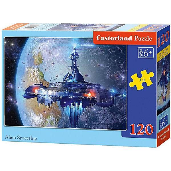 Пазл Castorland Космический корабль, 120 деталейПазлы классические<br>Характеристики:<br><br>• возраст: от 6 лет<br>• количество деталей: 120 шт.<br>• размер собранного пазла: 32х23 см.<br>• материал: картон<br>• упаковка: картонная коробка<br>• размер упаковки: 17,5x3,7x13 см.<br>• вес: 300 гр.<br>• страна обладатель бренда: Польша<br><br>Пазл «Космический корабль» от Castorland (Касторленд) отличается высоким качеством, высоким уровнем полиграфии, насыщенными цветами и идеальной стыковкой элементов. Из 120 элементов пазла ребенок соберет красочную картинку с изображением космического корабля на фоне неизвестной планеты.<br><br>Пазл Космический корабль, 120 деталей, Castorland (Касторленд) можно купить в нашем интернет-магазине.<br>Ширина мм: 175; Глубина мм: 130; Высота мм: 37; Вес г: 300; Возраст от месяцев: 72; Возраст до месяцев: 2147483647; Пол: Мужской; Возраст: Детский; SKU: 6725099;
