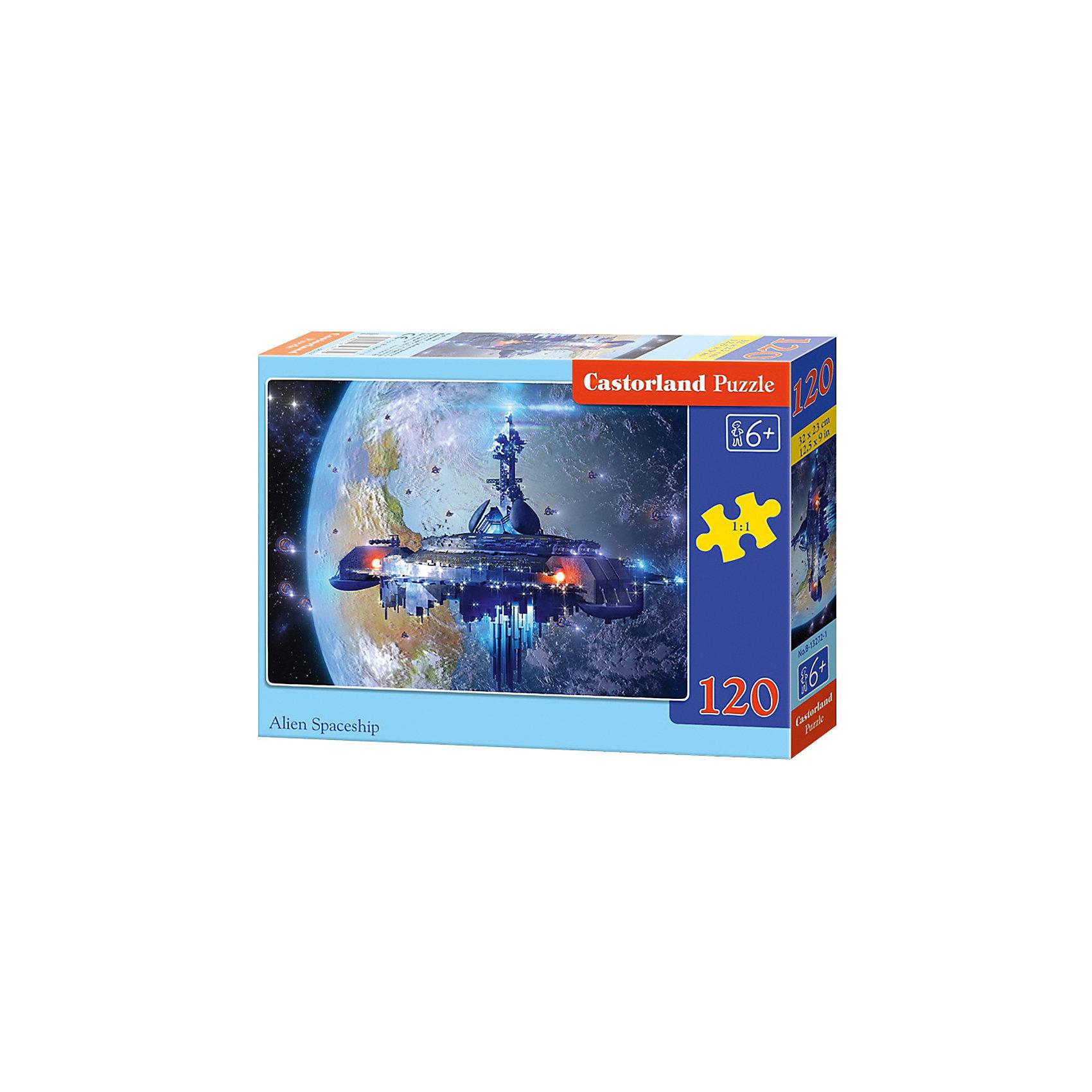 Пазл Castorland Космический корабль, 120 деталейКлассические пазлы<br>Характеристики:<br><br>• возраст: от 6 лет<br>• количество деталей: 120 шт.<br>• размер собранного пазла: 32х23 см.<br>• материал: картон<br>• упаковка: картонная коробка<br>• размер упаковки: 17,5x3,7x13 см.<br>• вес: 300 гр.<br>• страна обладатель бренда: Польша<br><br>Пазл «Космический корабль» от Castorland (Касторленд) отличается высоким качеством, высоким уровнем полиграфии, насыщенными цветами и идеальной стыковкой элементов. Из 120 элементов пазла ребенок соберет красочную картинку с изображением космического корабля на фоне неизвестной планеты.<br><br>Пазл Космический корабль, 120 деталей, Castorland (Касторленд) можно купить в нашем интернет-магазине.<br><br>Ширина мм: 175<br>Глубина мм: 130<br>Высота мм: 37<br>Вес г: 300<br>Возраст от месяцев: 72<br>Возраст до месяцев: 2147483647<br>Пол: Мужской<br>Возраст: Детский<br>SKU: 6725099