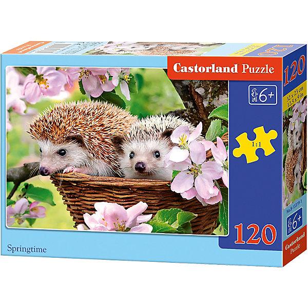 Пазл Castorland Ежики, 120 деталейПазлы классические<br>Характеристики:<br><br>• возраст: от 6 лет<br>• количество деталей: 120 шт.<br>• размер собранного пазла: 32х23 см.<br>• материал: картон<br>• упаковка: картонная коробка<br>• размер упаковки: 17,5x3,7x13 см.<br>• вес: 300 гр.<br>• страна обладатель бренда: Польша<br><br>Пазл «Ежики» от Castorland (Касторленд) отличается высоким качеством, высоким уровнем полиграфии, насыщенными цветами и идеальной стыковкой элементов. Из 120 элементов пазла ребенок соберет красочную картинку, на которой на фоне ярких цветов изображены два ежика в корзинке.<br><br>Пазл Ежики, 120 деталей, Castorland (Касторленд) можно купить в нашем интернет-магазине.<br><br>Ширина мм: 175<br>Глубина мм: 130<br>Высота мм: 37<br>Вес г: 300<br>Возраст от месяцев: 72<br>Возраст до месяцев: 2147483647<br>Пол: Унисекс<br>Возраст: Детский<br>SKU: 6725102