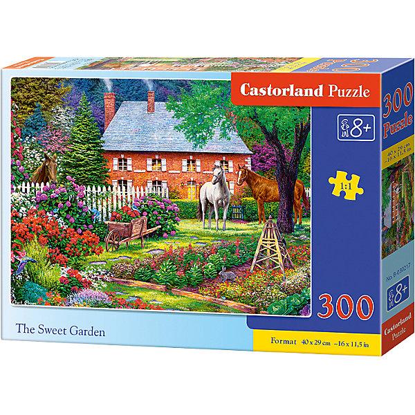 Пазл Castorland Чудесный сад, 300 деталейПазлы классические<br>Характеристики:<br><br>• возраст: от 8 лет<br>• количество деталей: 300 шт.<br>• размер собранного пазла: 40х29 см.<br>• материал: картон<br>• упаковка: картонная коробка<br>• размер упаковки: 32x4,7x22 см.<br>• вес: 300 гр.<br>• страна обладатель бренда: Польша<br><br>Пазл «Чудесный сад» от Castorland (Касторленд) отличается высоким качеством, высоким уровнем полиграфии, насыщенными цветами и идеальной стыковкой элементов. Из 300 элементов пазла ребенок соберет красивую картину с изображением живописного сада.<br><br>Пазл Чудесный сад, 300 деталей, Castorland (Касторленд) можно купить в нашем интернет-магазине.<br>Ширина мм: 320; Глубина мм: 220; Высота мм: 47; Вес г: 300; Возраст от месяцев: 96; Возраст до месяцев: 2147483647; Пол: Унисекс; Возраст: Детский; SKU: 6725106;