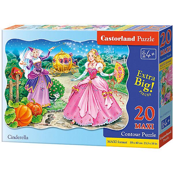 Макси-пазл Castorland Золушка, 20 деталейПазлы для малышей<br>Характеристики:<br><br>• возраст: от 4 лет<br>• количество деталей: 20 деталей MAXI<br>• размер собранного пазла: 59х40 см.<br>• материал: картон<br>• упаковка: картонная коробка<br>• размер упаковки: 32x4,7x22 см.<br>• вес: 400 гр.<br>• страна обладатель бренда: Польша<br><br>Из 20 больших элементов пазла ребенок соберет красочную картинку с изображением прекрасной Золушки и ее крестной - Феи. Благодаря фигурной форме картинки, процесс сбора элементов в одно изображение будет увлекательным и интересным.<br><br>Пазл Золушка, 20 деталей MAXI, Castorland (Касторленд) можно купить в нашем интернет-магазине.<br>Ширина мм: 320; Глубина мм: 220; Высота мм: 47; Вес г: 400; Возраст от месяцев: 48; Возраст до месяцев: 2147483647; Пол: Женский; Возраст: Детский; SKU: 6725109;