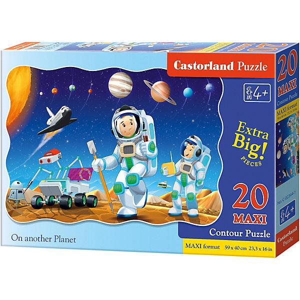 Макси-пазл Castorland На другой планете, 20 деталейПазлы для малышей<br>Характеристики:<br><br>• возраст: от 4 лет<br>• количество деталей: 20 деталей MAXI<br>• размер собранного пазла: 59х40 см.<br>• материал: картон<br>• упаковка: картонная коробка<br>• размер упаковки: 32x4,7x22 см.<br>• вес: 400 гр.<br>• страна обладатель бренда: Польша<br><br>Из 20 больших элементов пазла ребенок соберет красивую картинку с изображением юных астронавтов, исследующих далекую, загадочную планету. На заднем плане собранной картинки можно увидеть звездное небо, космический шаттл и планеты солнечной системы. Благодаря фигурной форме картинки, процесс сбора элементов в одно изображение будет увлекательным и интересным.<br><br>Пазл На другой планете, 20 деталей MAXI, Castorland (Касторленд) можно купить в нашем интернет-магазине.<br><br>Ширина мм: 320<br>Глубина мм: 220<br>Высота мм: 47<br>Вес г: 400<br>Возраст от месяцев: 48<br>Возраст до месяцев: 2147483647<br>Пол: Мужской<br>Возраст: Детский<br>SKU: 6725112