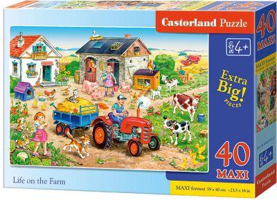 Макси-пазл Castorland Жизнь на ферме , 40 деталей фото-1