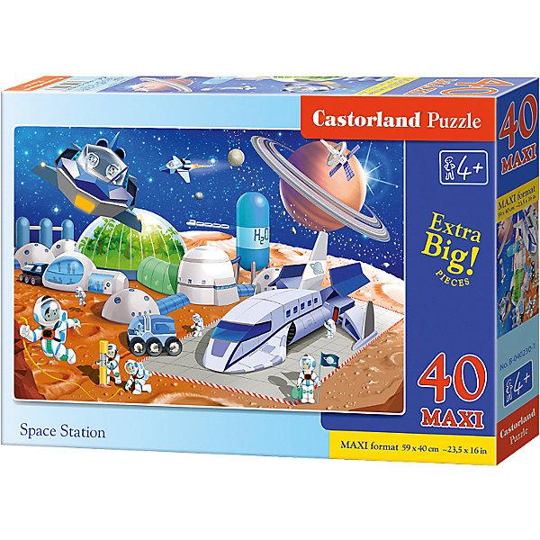 Макси-пазл Castorland Космическая станция, 40 деталейПазлы для малышей<br>Характеристики:<br><br>• возраст: от 4 лет<br>• количество деталей: 40 деталей MAXI<br>• размер собранного пазла: 59х40 см.<br>• материал: картон<br>• упаковка: картонная коробка<br>• размер упаковки: 32x4,7x22 см.<br>• вес: 400 гр.<br>• страна обладатель бренда: Польша<br><br>Пазл «Космическая станция» от Castorland (Касторленд) отличается хорошим качеством, высоким уровнем полиграфии, насыщенными цветами и идеальной стыковкой элементов. Из 40 больших элементов пазла ребенок соберет красочную картинку с изображением космической станции.<br><br>Пазл Космическая станция, 40 деталей MAXI, Castorland (Касторленд) можно купить в нашем интернет-магазине.<br>Ширина мм: 320; Глубина мм: 220; Высота мм: 47; Вес г: 400; Возраст от месяцев: 48; Возраст до месяцев: 2147483647; Пол: Мужской; Возраст: Детский; SKU: 6725116;