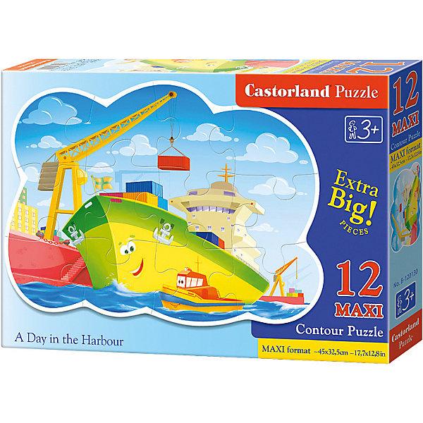 Макси-пазл Castorland День в гавани, 12 деталейПазлы для малышей<br>Характеристики:<br><br>• возраст: от 3 лет<br>• количество деталей: 12 деталей MAXI<br>• размер собранного пазла: 45х32,5 см.<br>• материал: картон<br>• упаковка: картонная коробка<br>• размер упаковки: 32x4,7x22 см.<br>• вес: 400 гр.<br>• страна обладатель бренда: Польша<br><br>Из 12 больших элементов пазла ребенок соберет красочную картинку с изображением улыбающегося корабля, на которой краном загружают грузы. Благодаря фигурной форме картинки, процесс сбора элементов в одно изображение будет увлекательным и интересным.<br><br>Пазл День в гавани, 12 деталей MAXI, Castorland (Касторленд) можно купить в нашем интернет-магазине.<br><br>Ширина мм: 320<br>Глубина мм: 220<br>Высота мм: 47<br>Вес г: 400<br>Возраст от месяцев: 36<br>Возраст до месяцев: 2147483647<br>Пол: Мужской<br>Возраст: Детский<br>SKU: 6725118